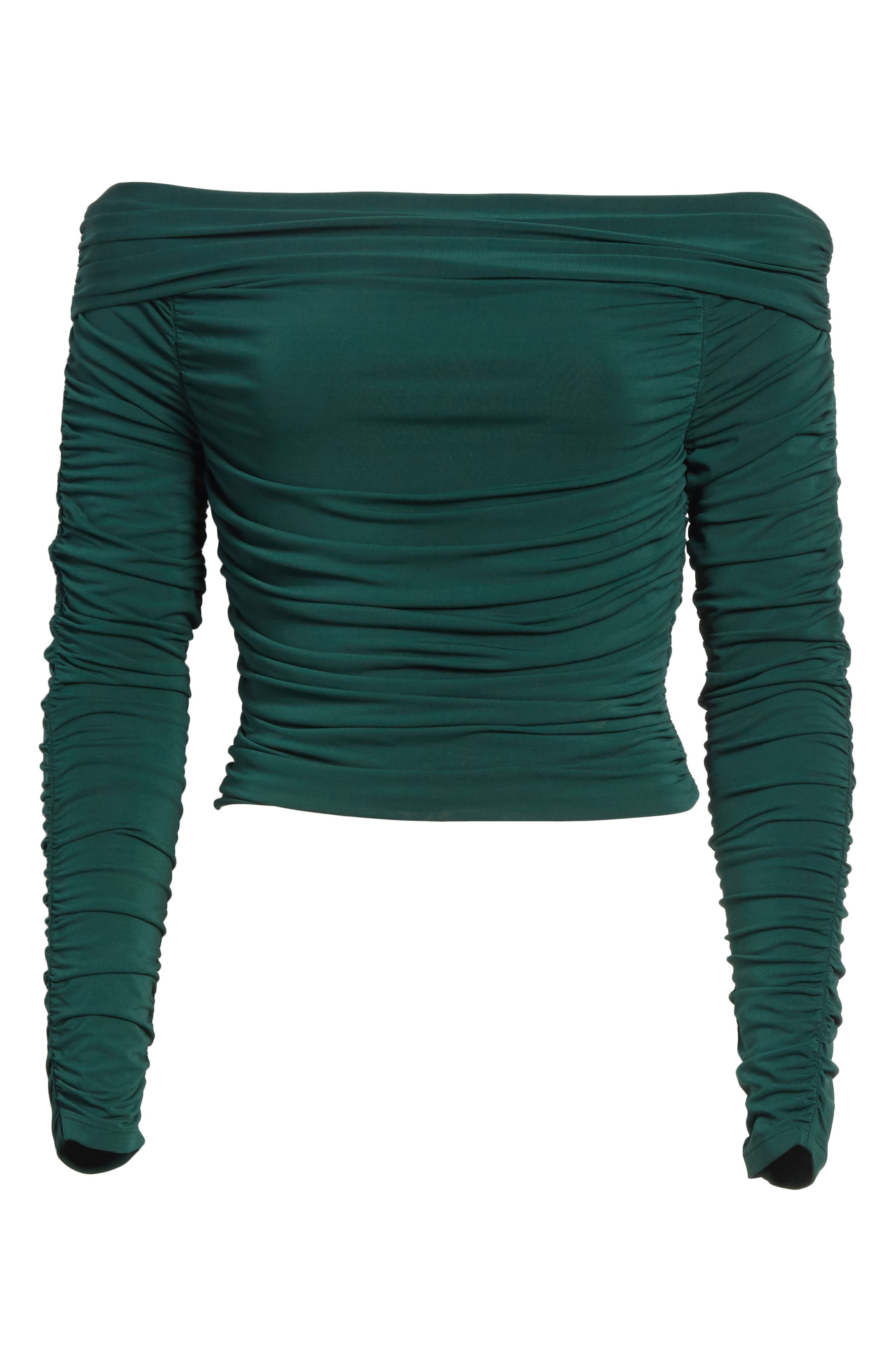 Terence Ruched Off the Shoulder Top,                             Alternate thumbnail 6, color,