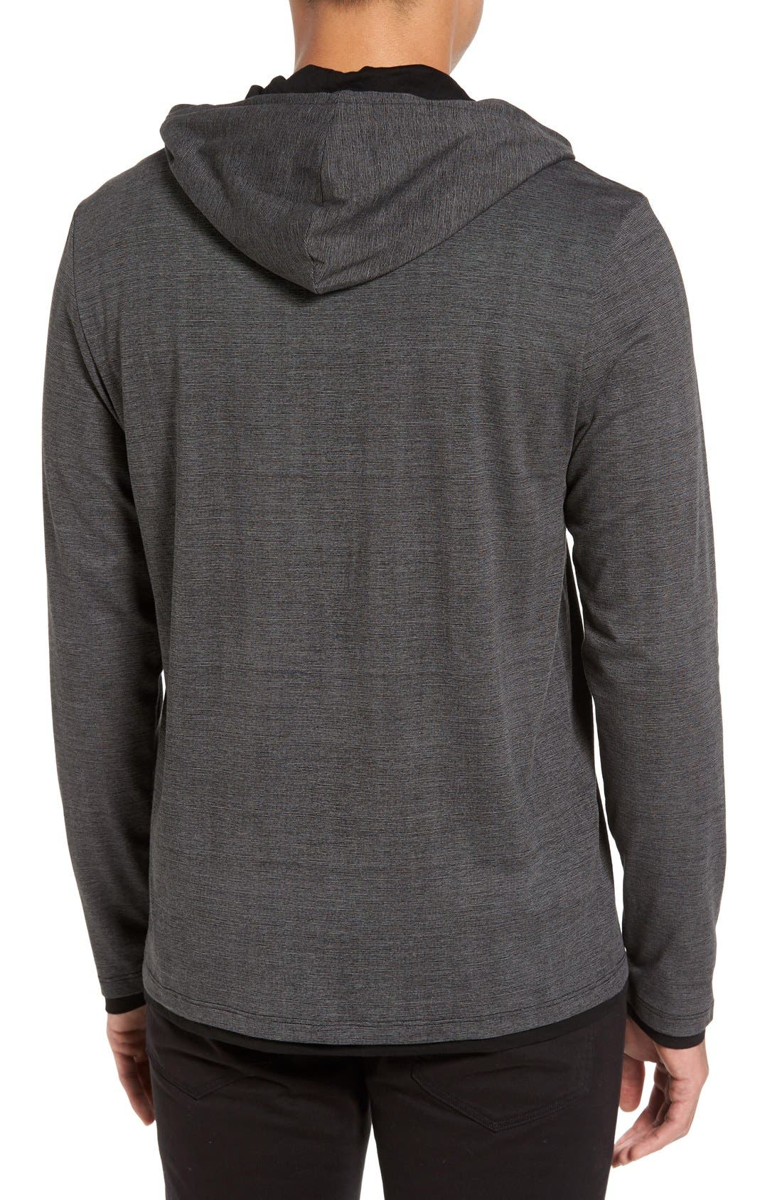 Lightweight Double Layer Hoodie,                             Alternate thumbnail 4, color,                             001