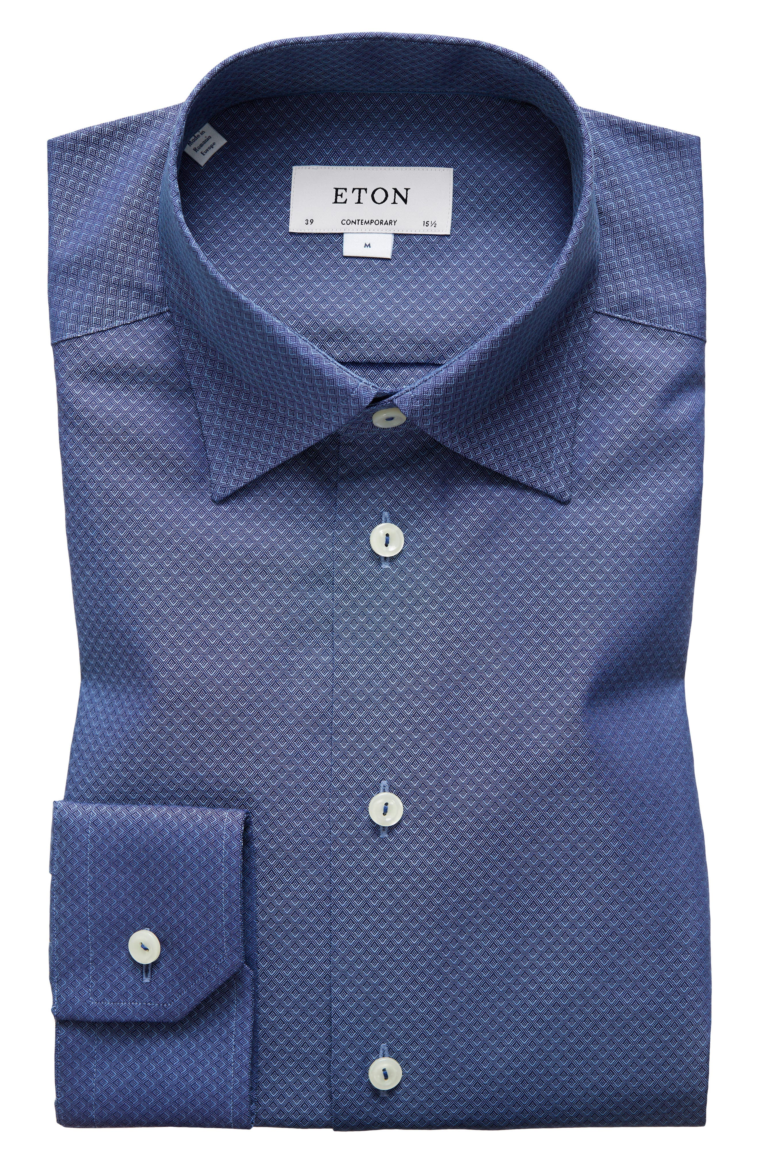 Contemporary Fit Geometric Dress Shirt,                             Main thumbnail 1, color,                             400