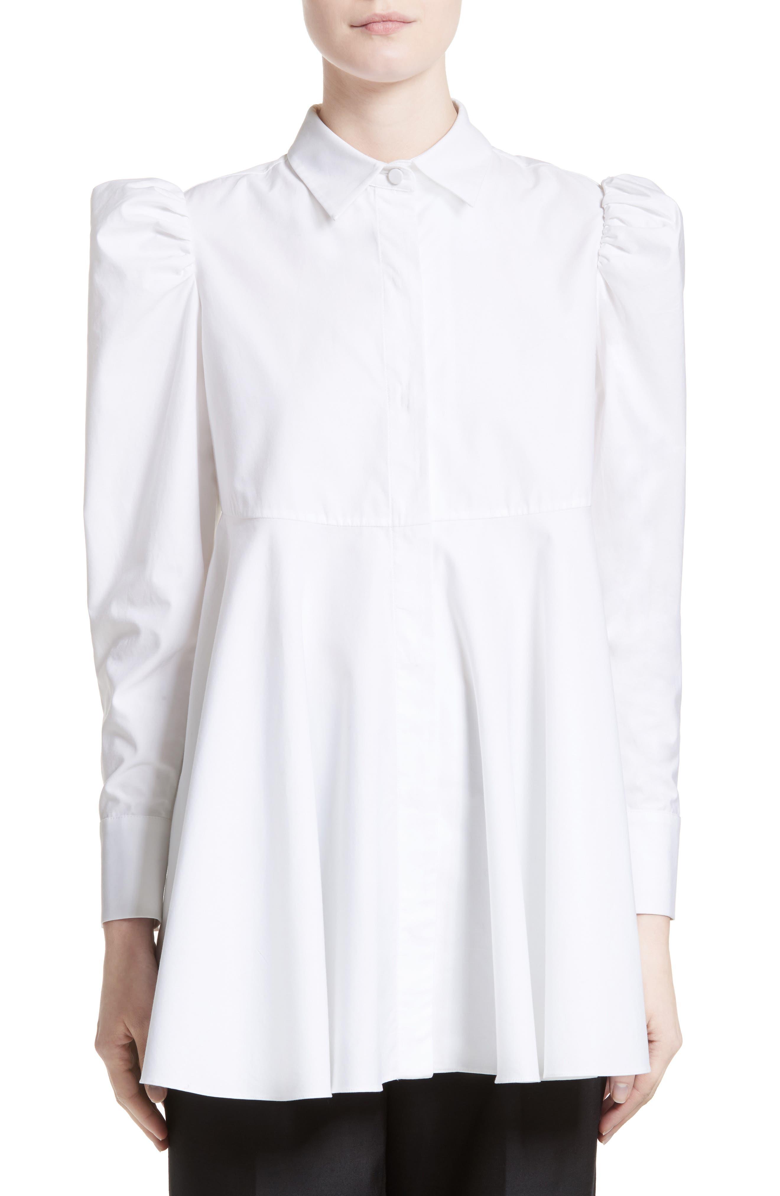 Cotton Puff Sleeve Blouse,                             Main thumbnail 1, color,                             100
