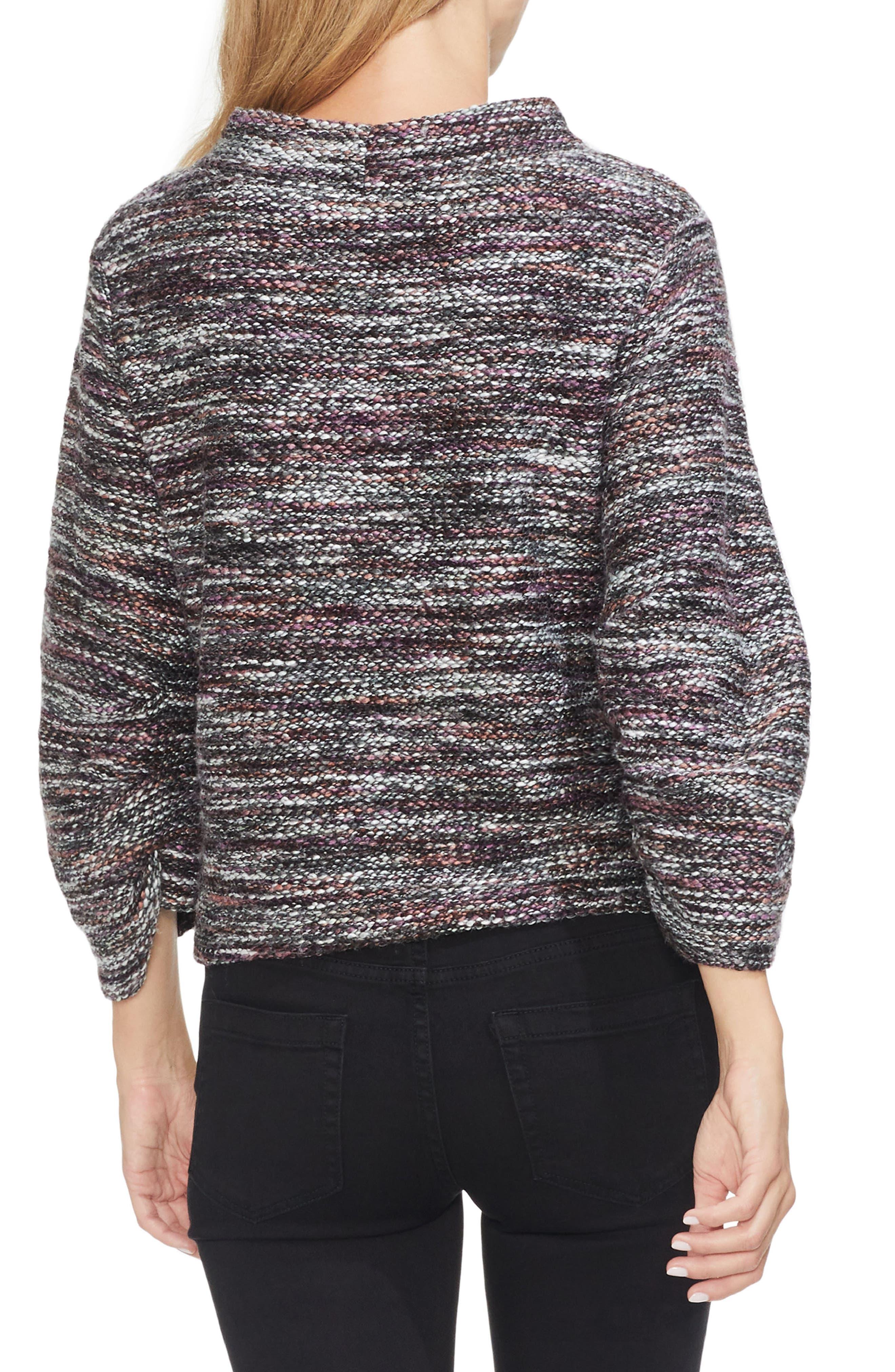 Gathered Sleeve Marled Sweater,                             Alternate thumbnail 2, color,                             601