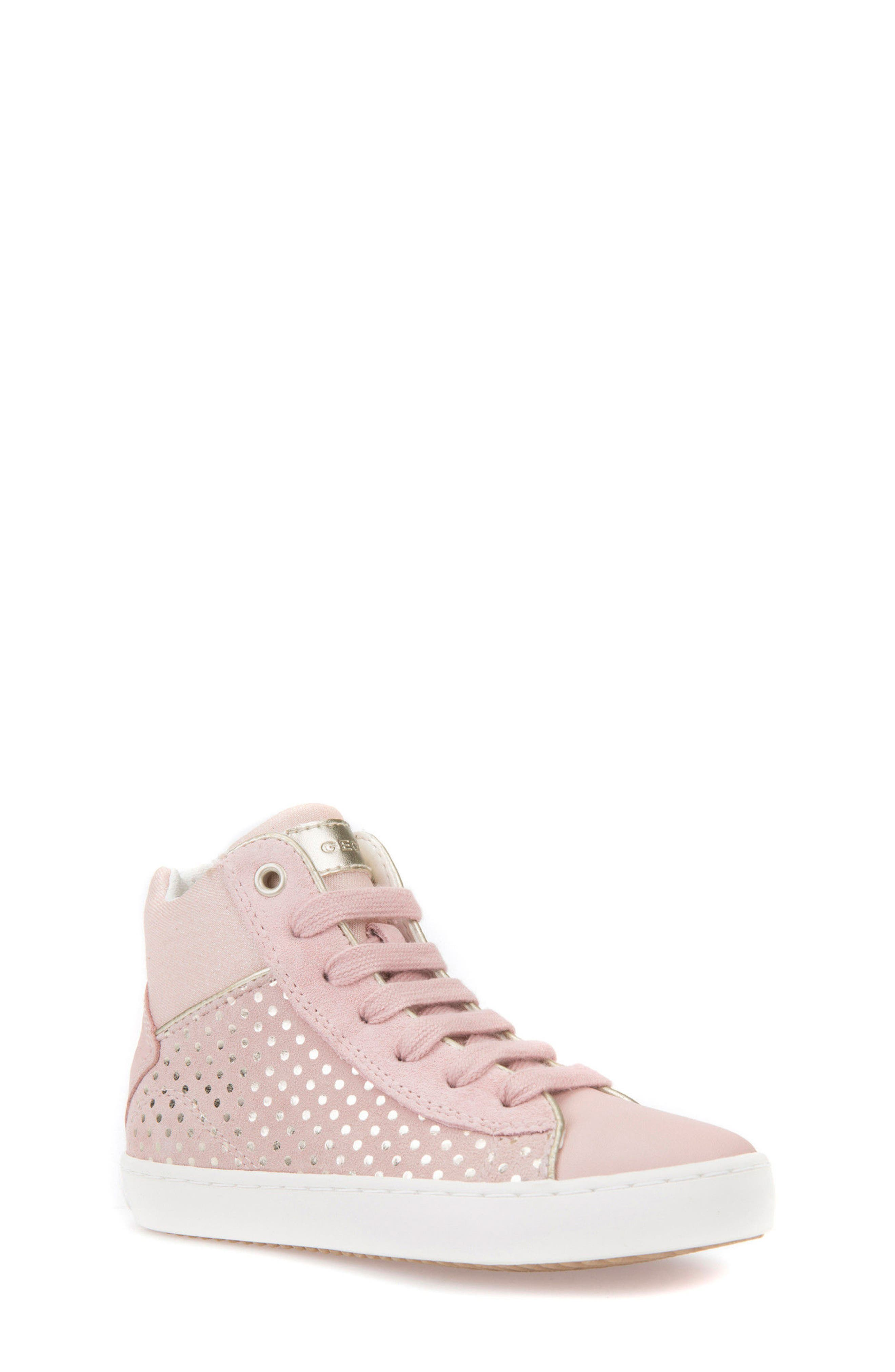 Kilwi High Top Zip Sneaker,                         Main,                         color, ROSE
