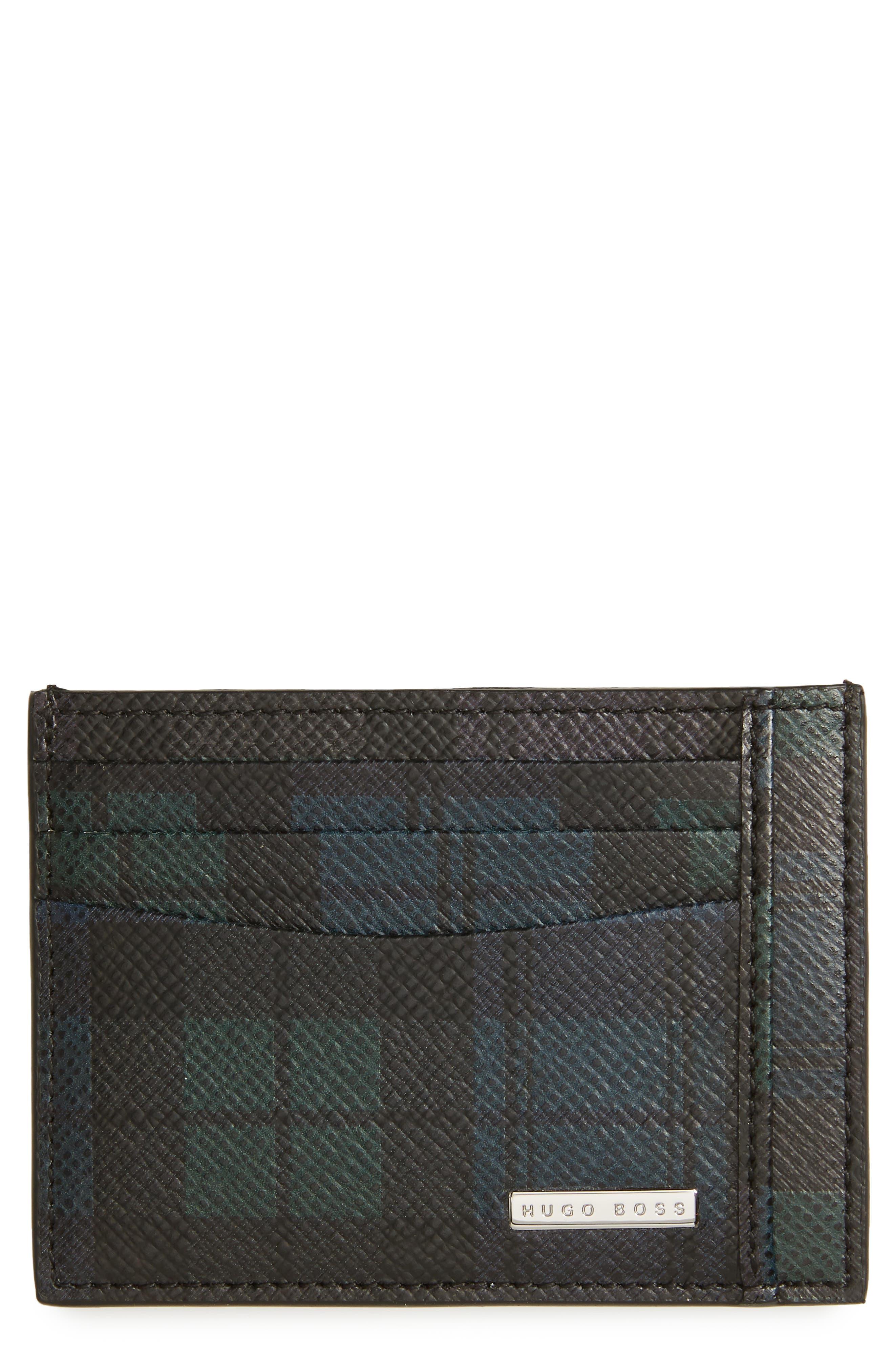 Signature Leather Card Case,                         Main,                         color, 016