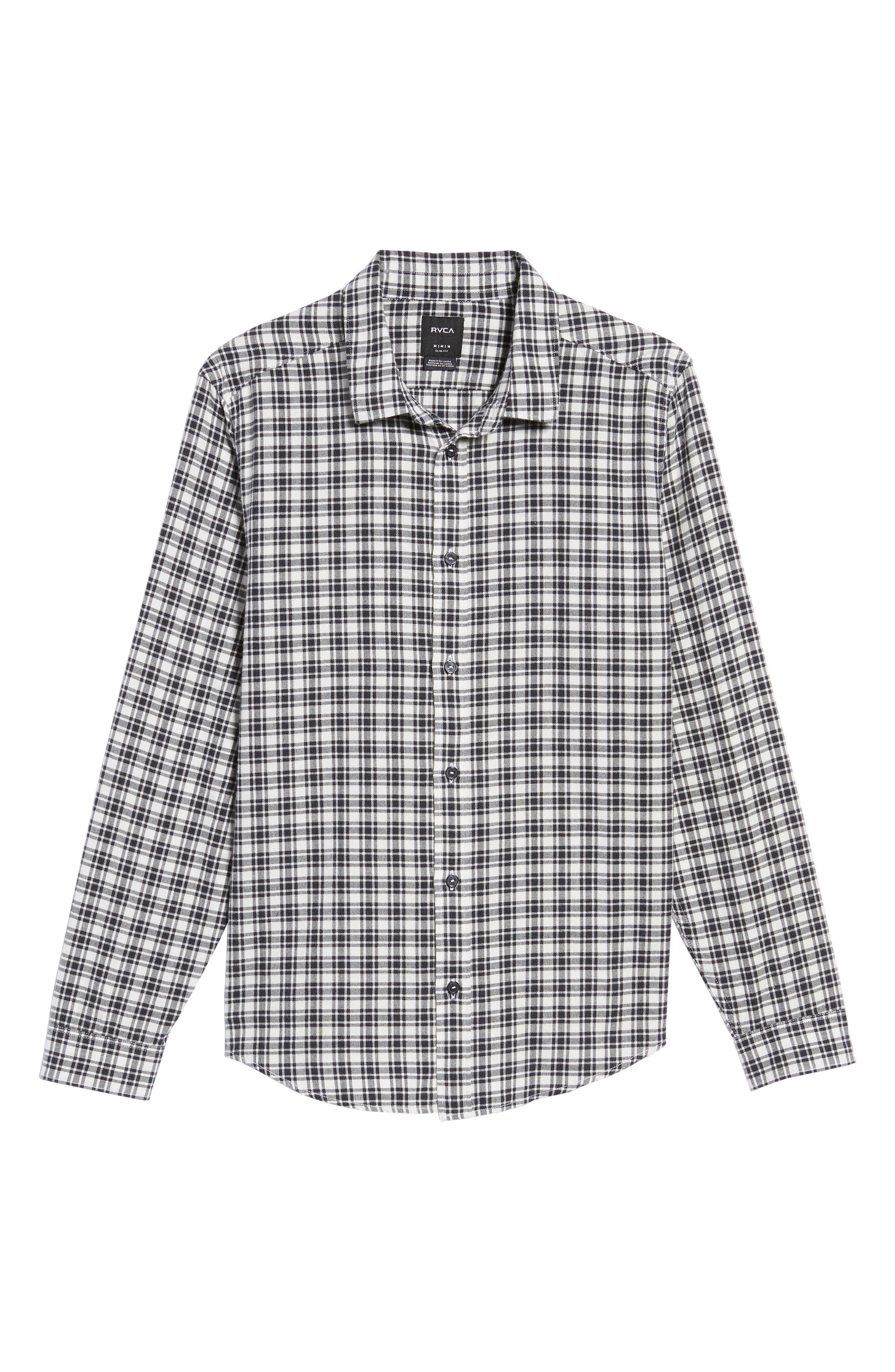 Hayes Plaid Flannel Sport Shirt,                             Alternate thumbnail 6, color,