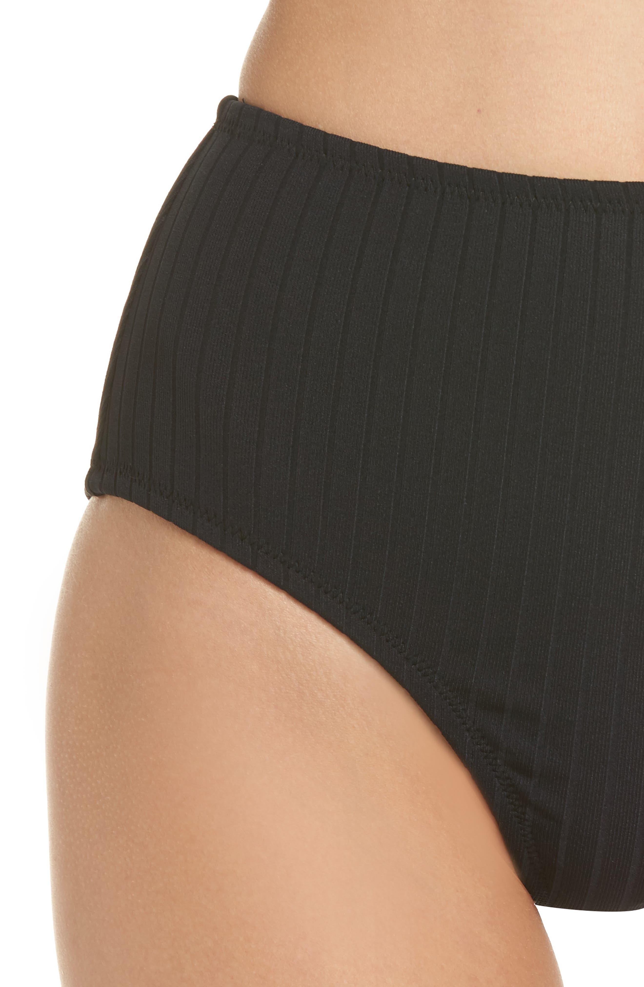 Westwood High Waist Bikini Bottoms,                             Alternate thumbnail 4, color,                             001