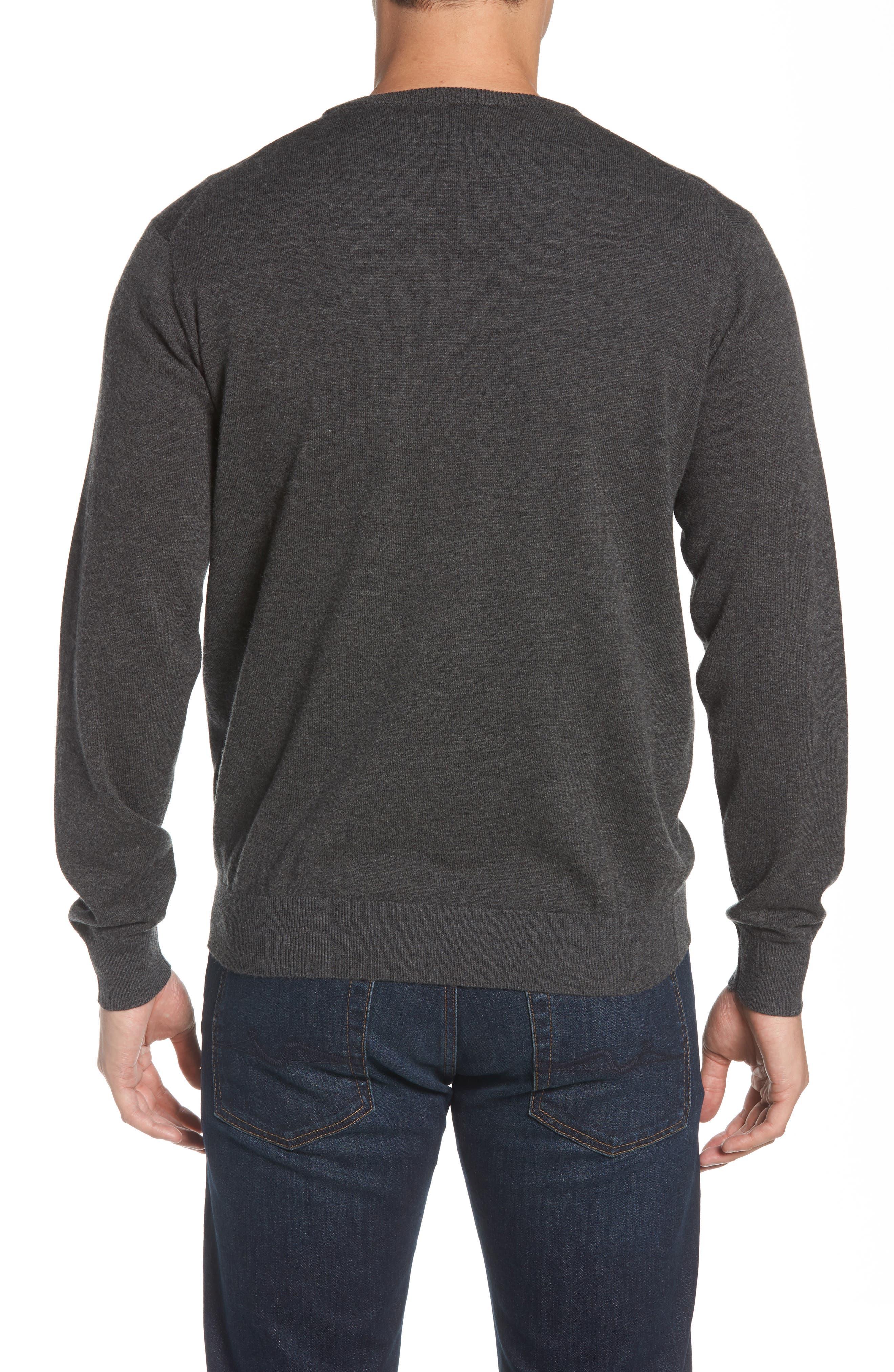 Wool & Cotton Crewneck Sweater,                             Alternate thumbnail 2, color,                             022