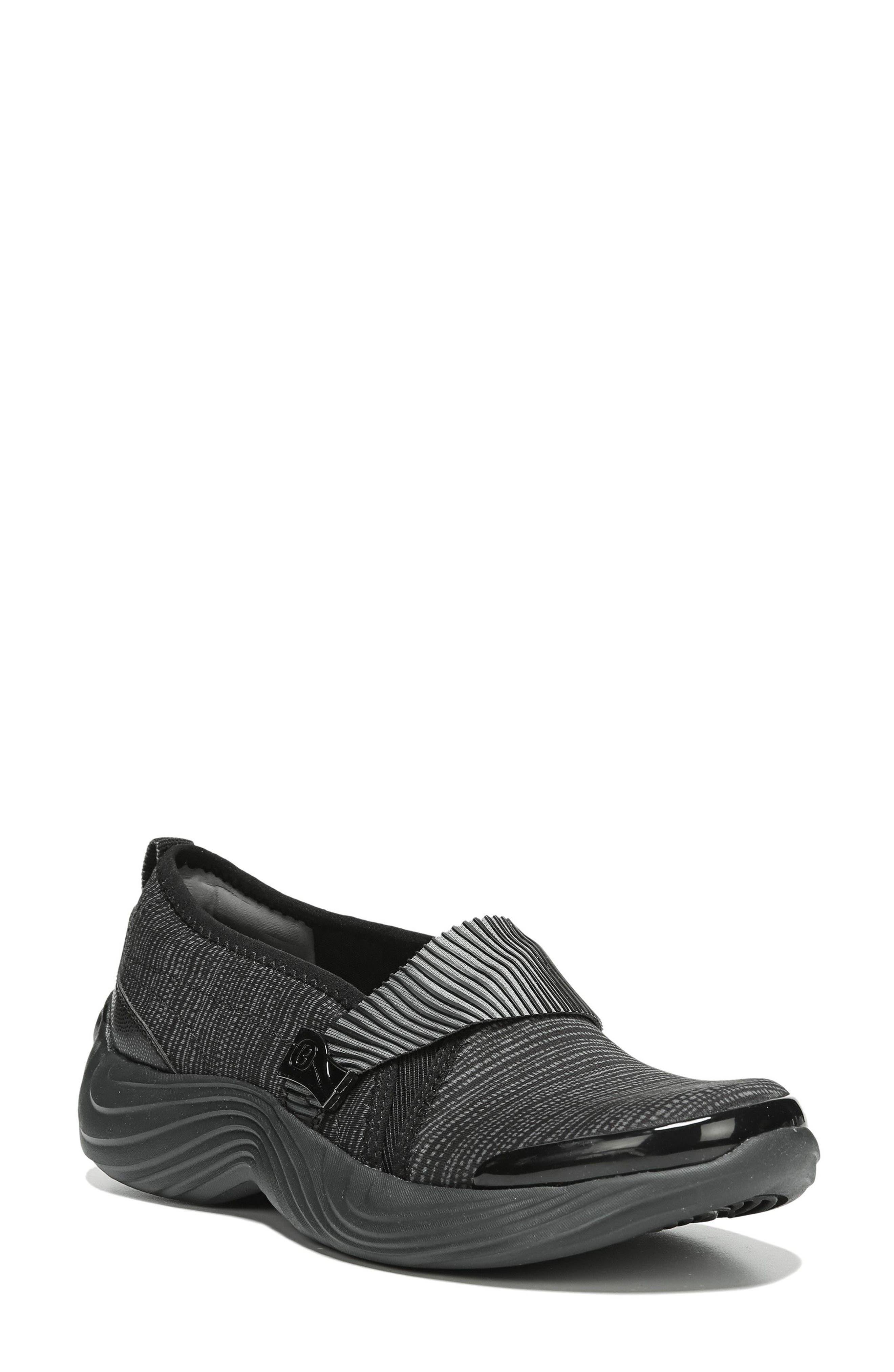 Tanza Slip-On,                         Main,                         color, BLACK FABRIC