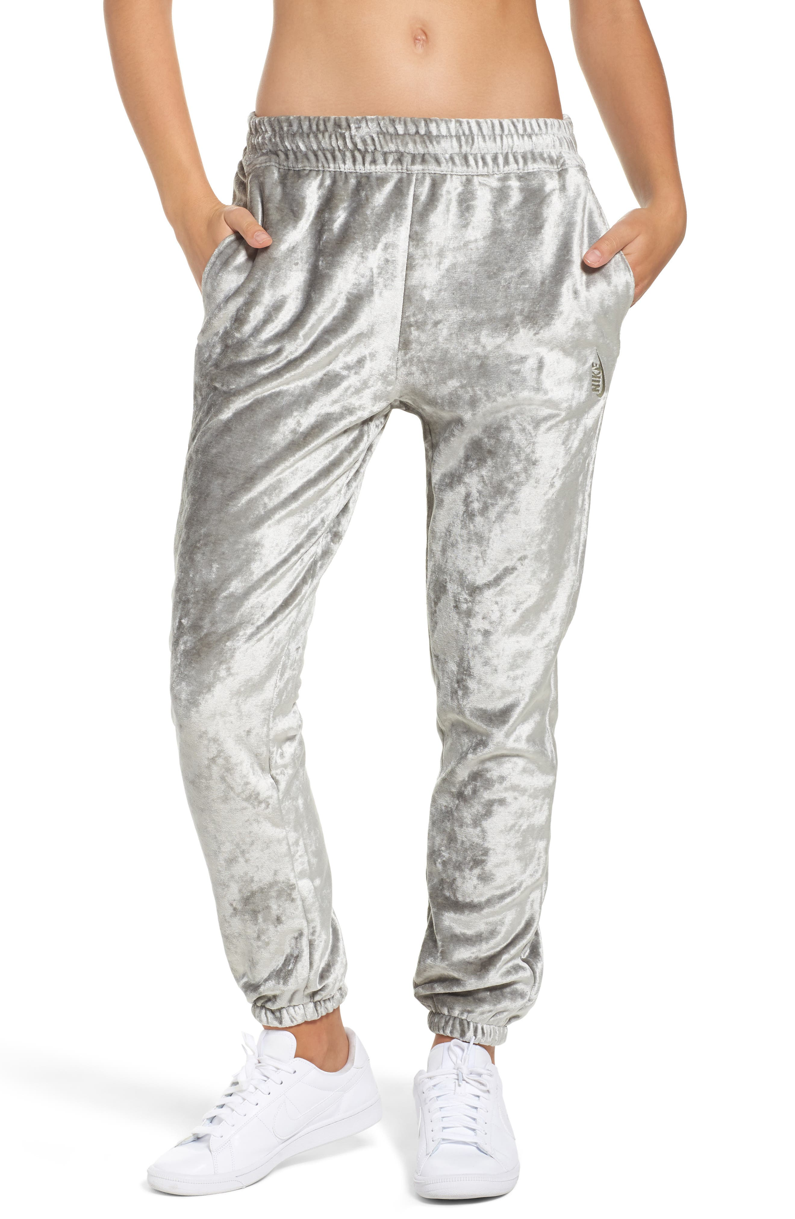 NIKE,                             NikeLab Essentials Women's Velour Pants,                             Main thumbnail 1, color,                             020