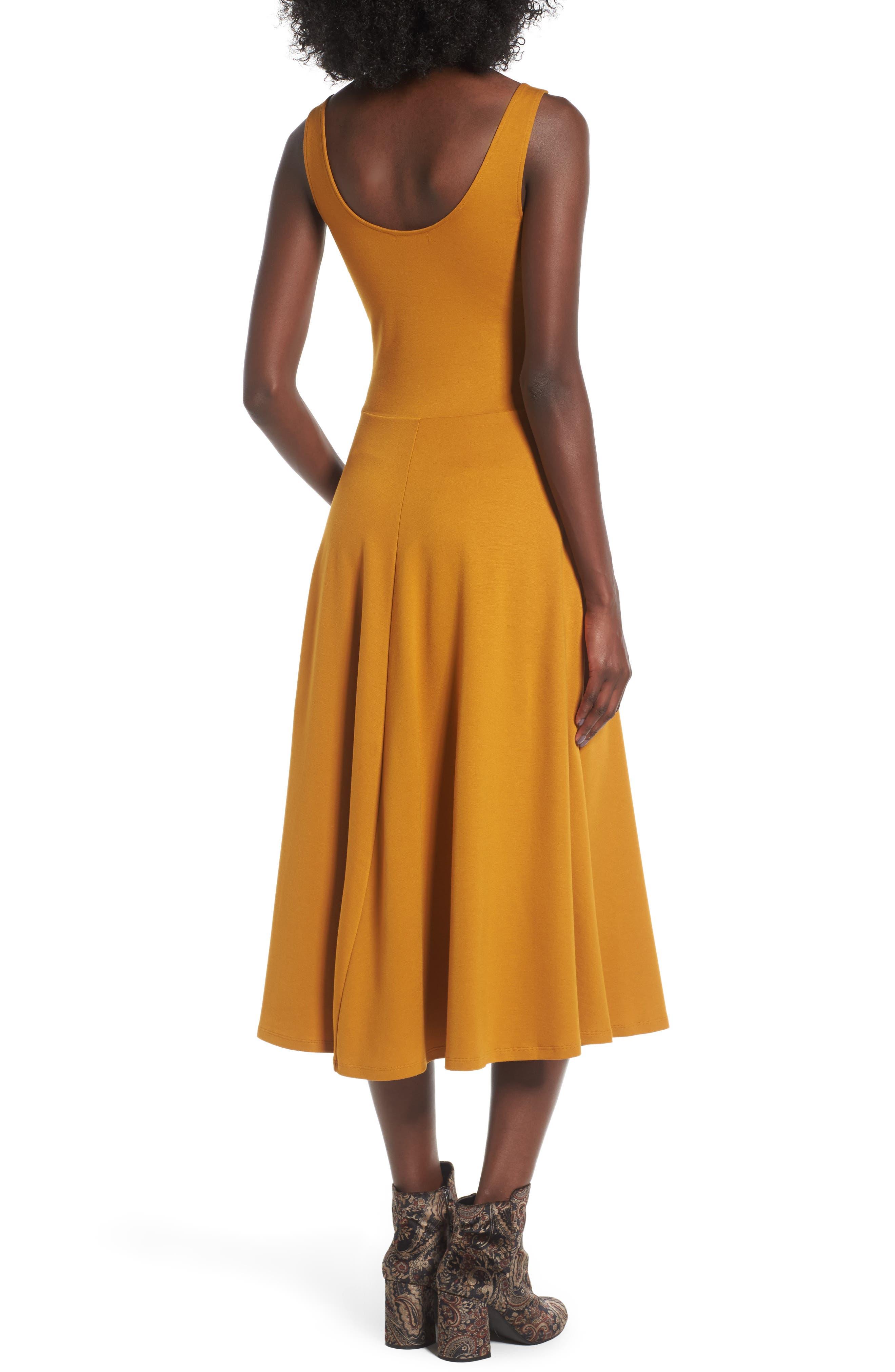 Stretch Knit Midi Dress,                             Alternate thumbnail 17, color,