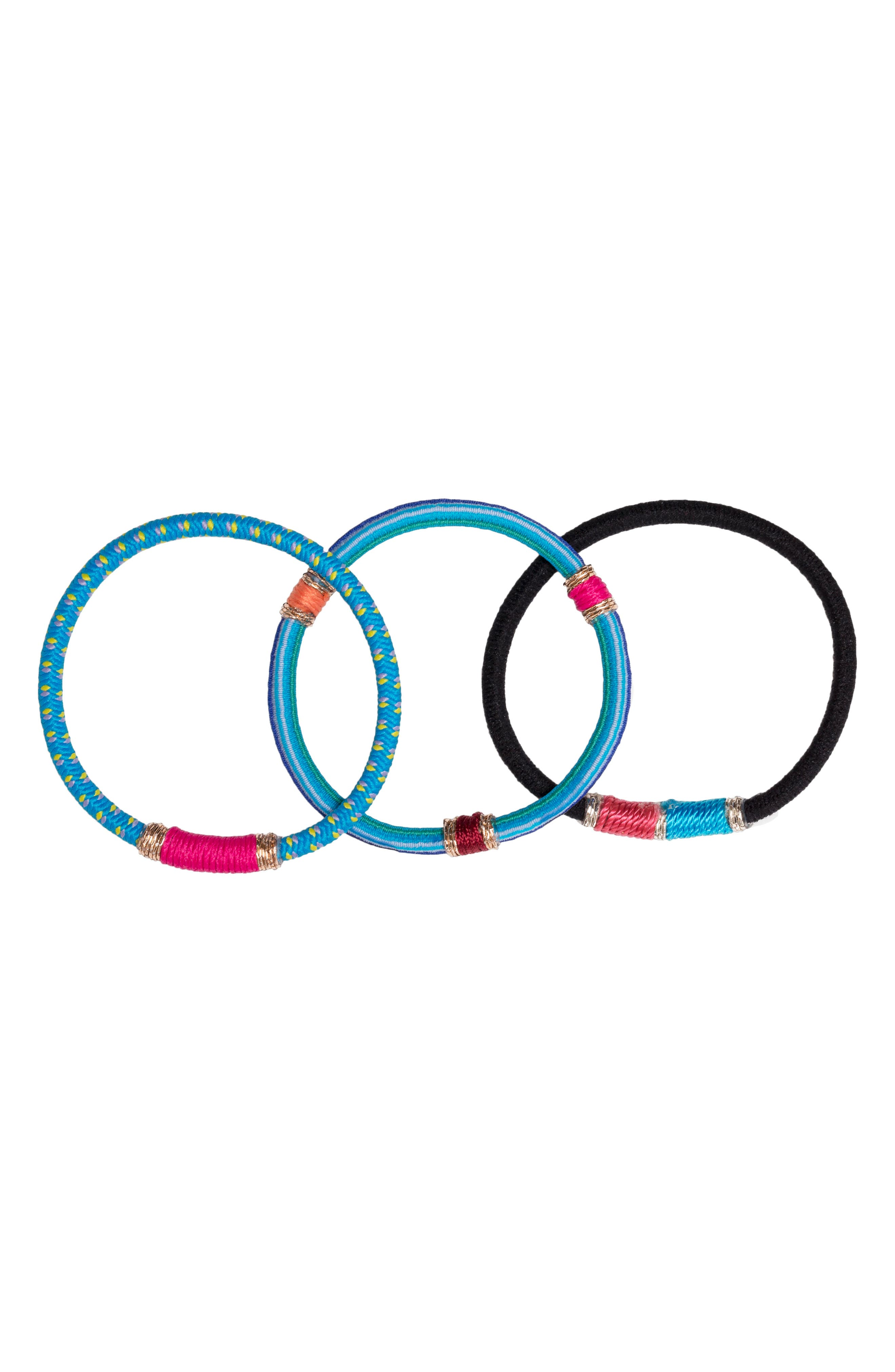 Moroccan Set of 3 Ponytail Holders,                             Alternate thumbnail 2, color,                             460