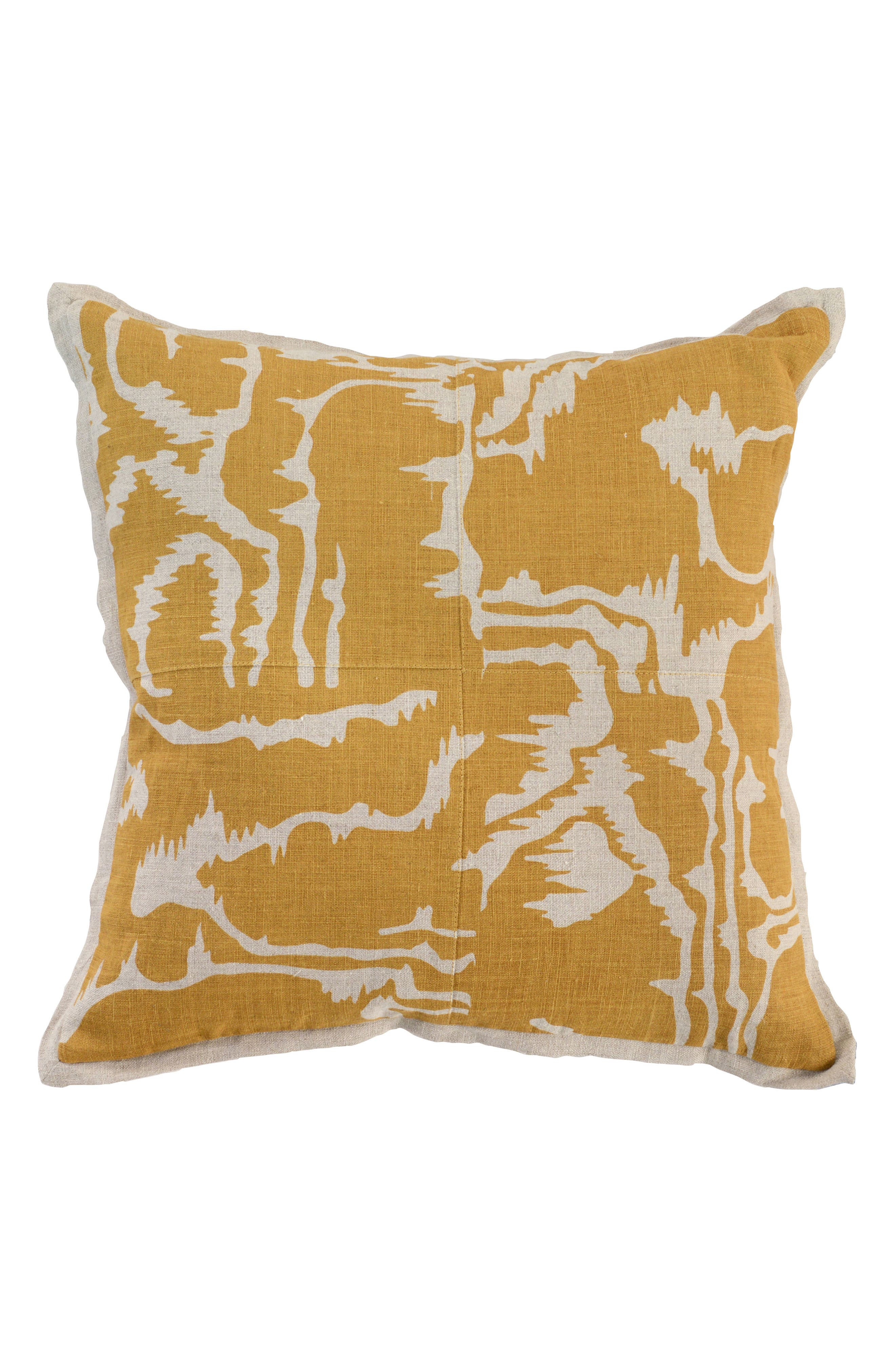 Savoir Accent Pillow,                         Main,                         color, OCHRE