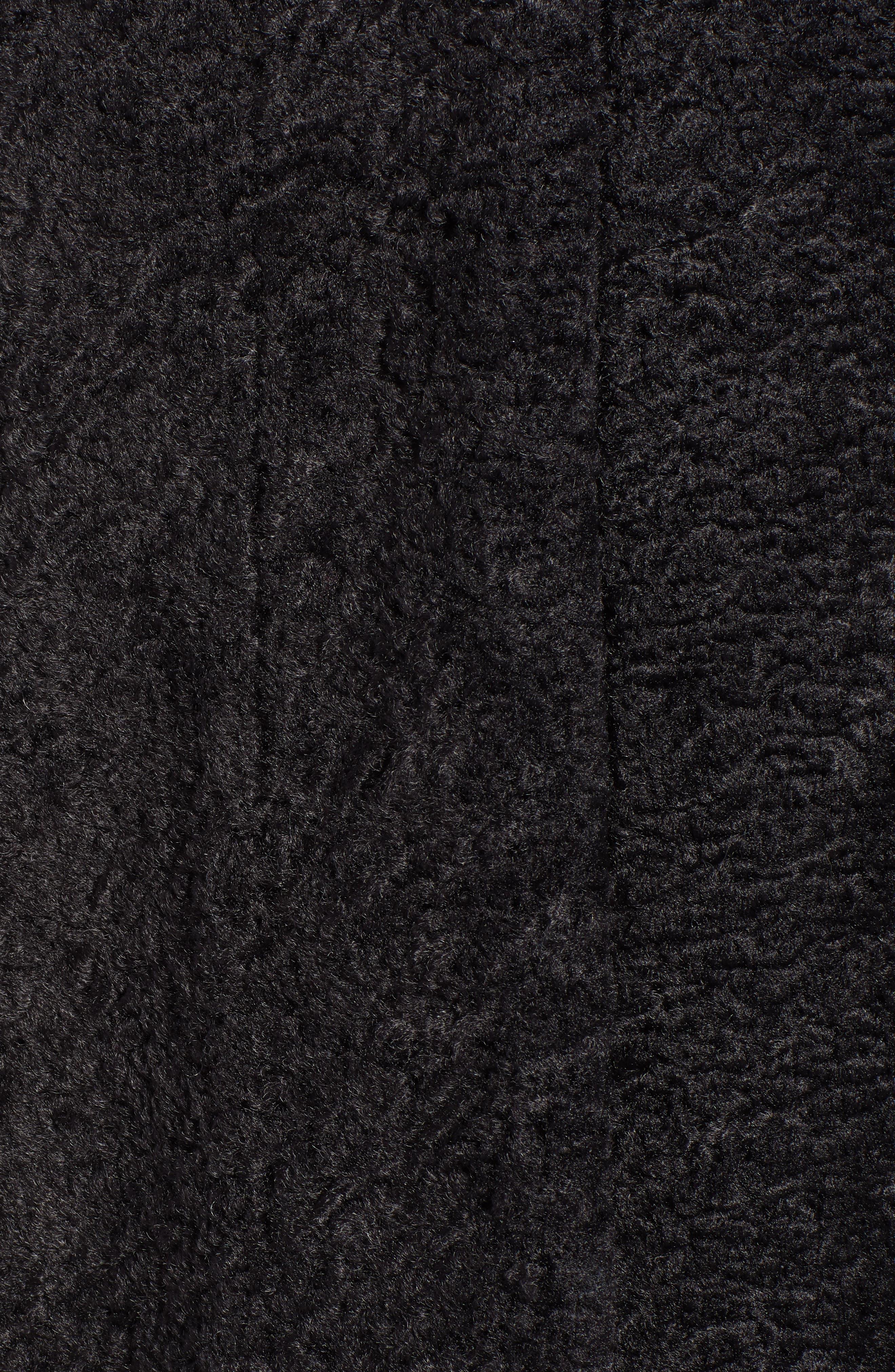 Long Faux Shearling Coat,                             Alternate thumbnail 7, color,                             GREY PHANTOM