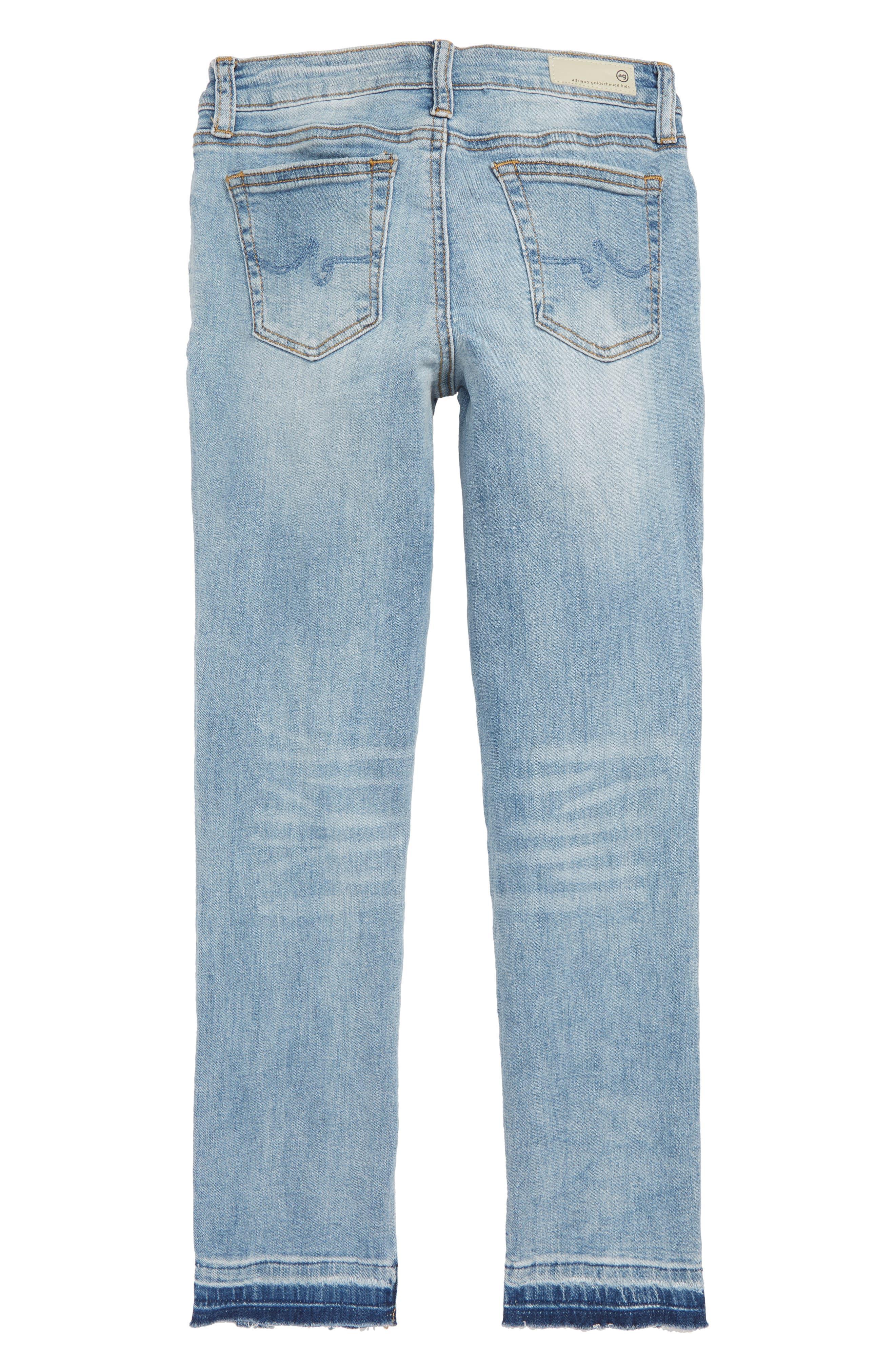The Teegan Slit Hem Stretch Jeans,                             Alternate thumbnail 2, color,                             JETTY