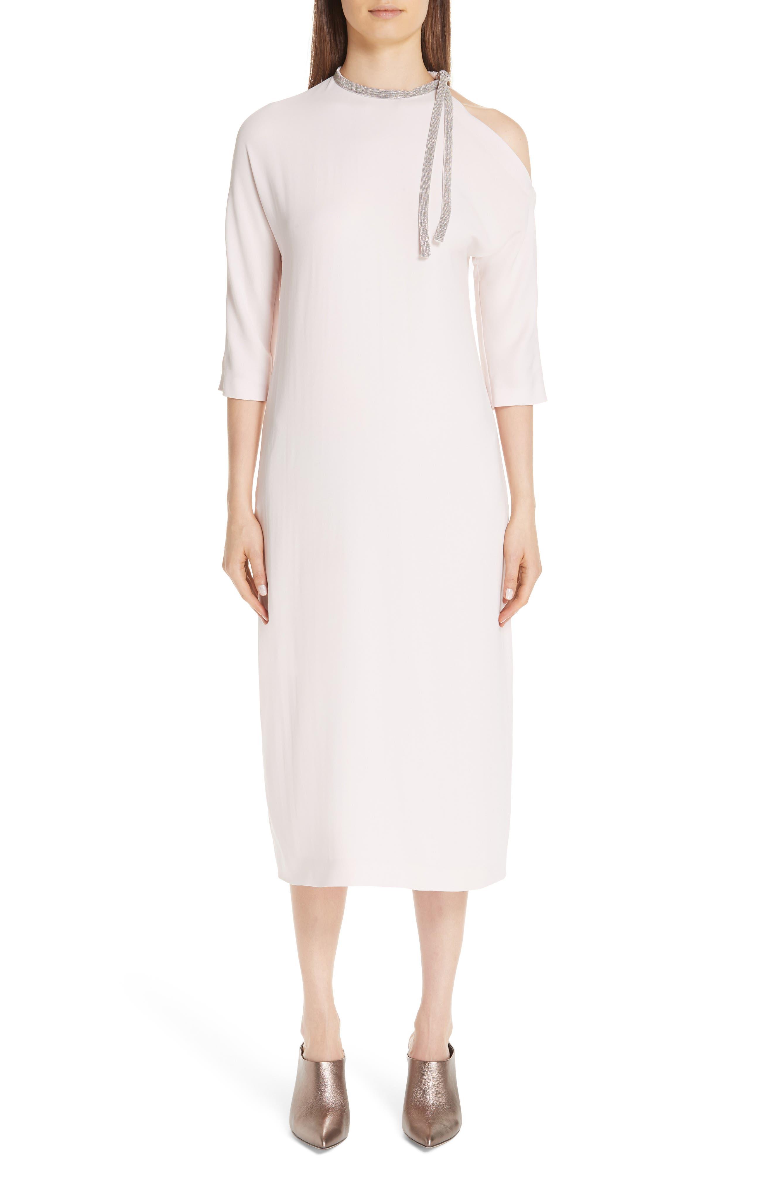 Fabiana Filippi Precious Cutout Dress, US / 42 IT - Pink