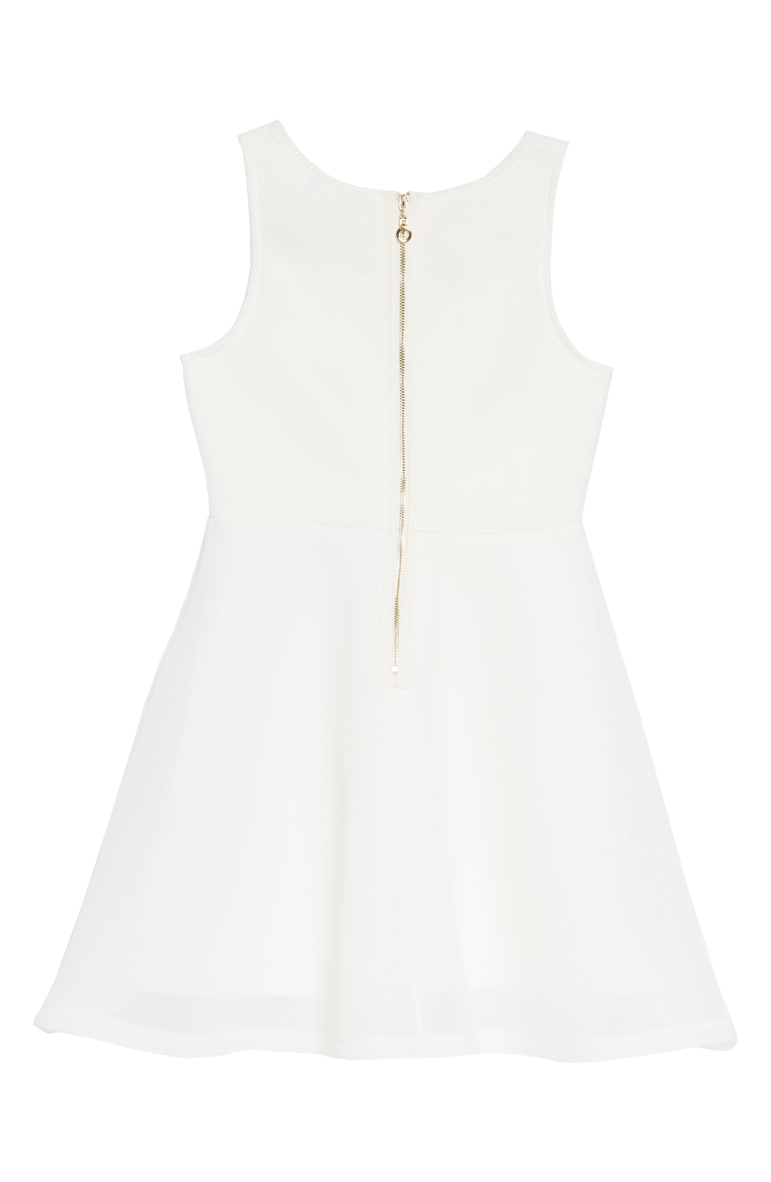 Fit & Flare Dress,                             Alternate thumbnail 2, color,                             100