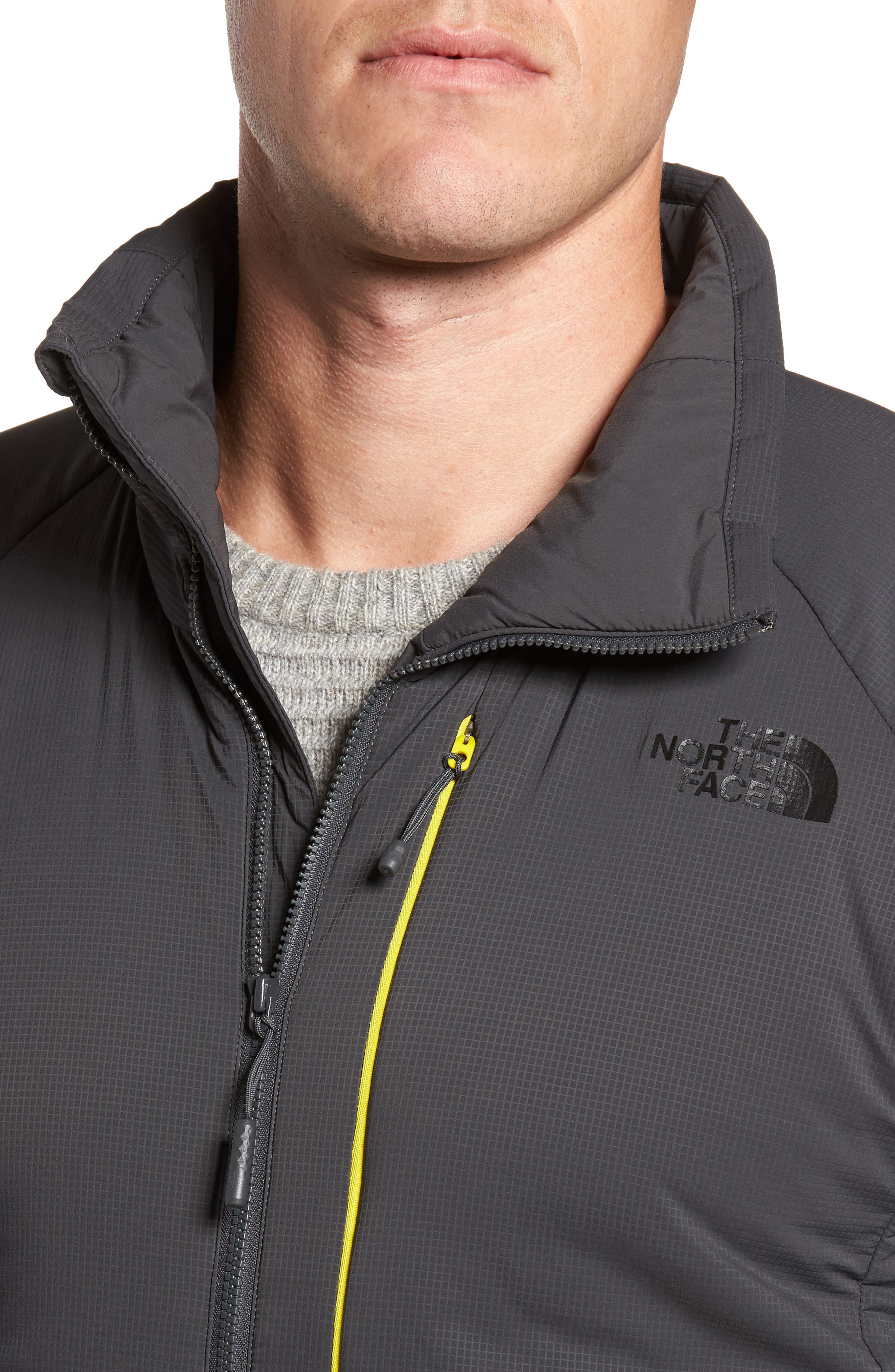 Ventrix Water Resistant Ripstop Jacket,                             Alternate thumbnail 4, color,                             ASPHALT GREY / ACID YELLOW
