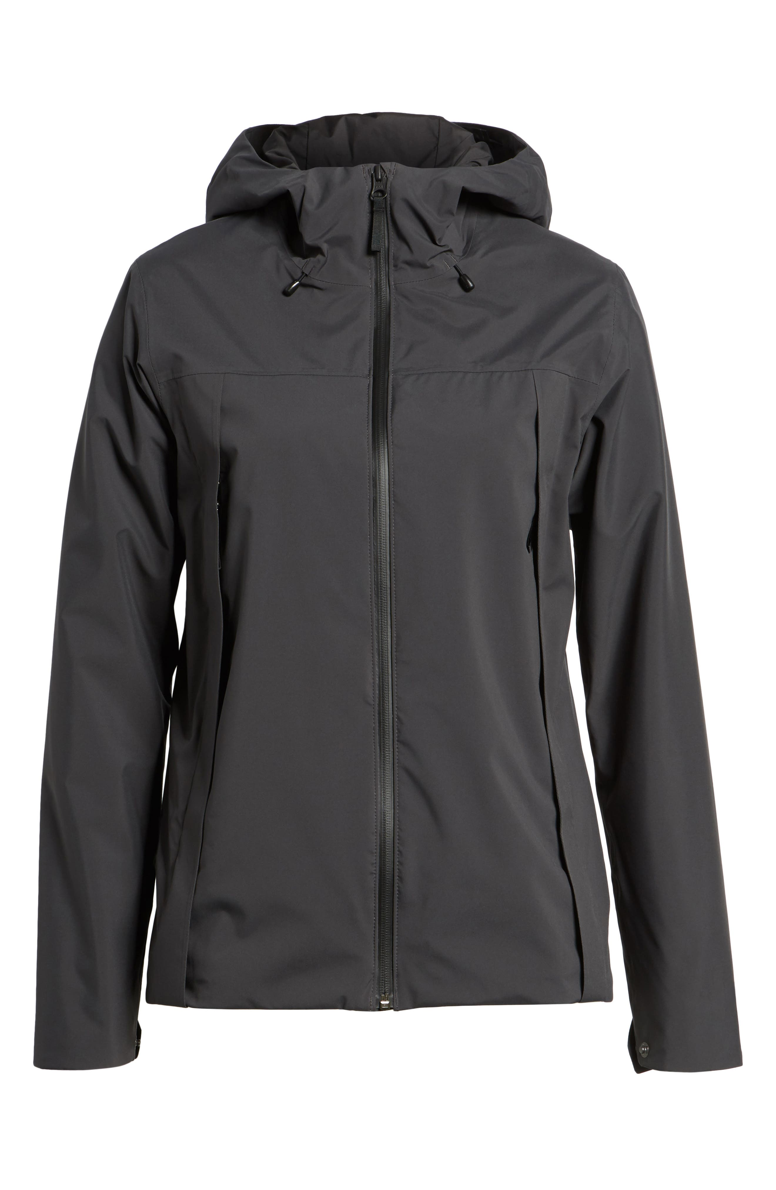 Yosemite Falls Hooded Jacket,                             Alternate thumbnail 5, color,                             001