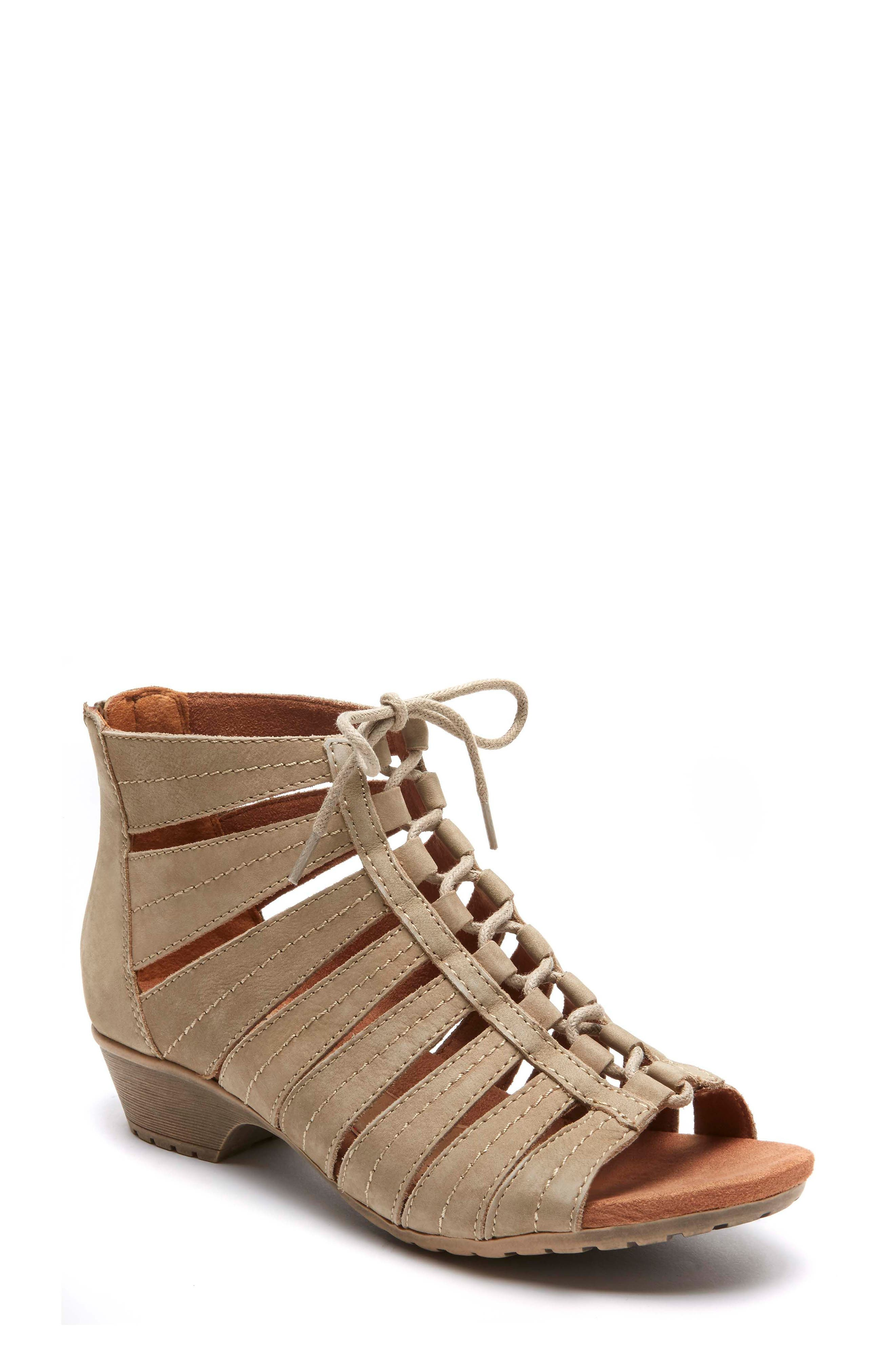 'Gabby' Lace-Up Sandal,                             Main thumbnail 1, color,