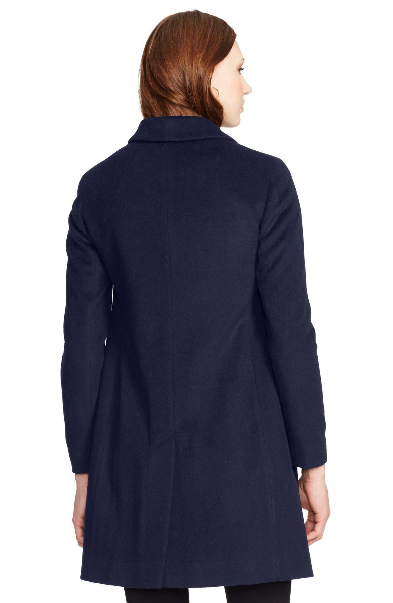 Wool Blend Reefer Coat,                             Alternate thumbnail 49, color,