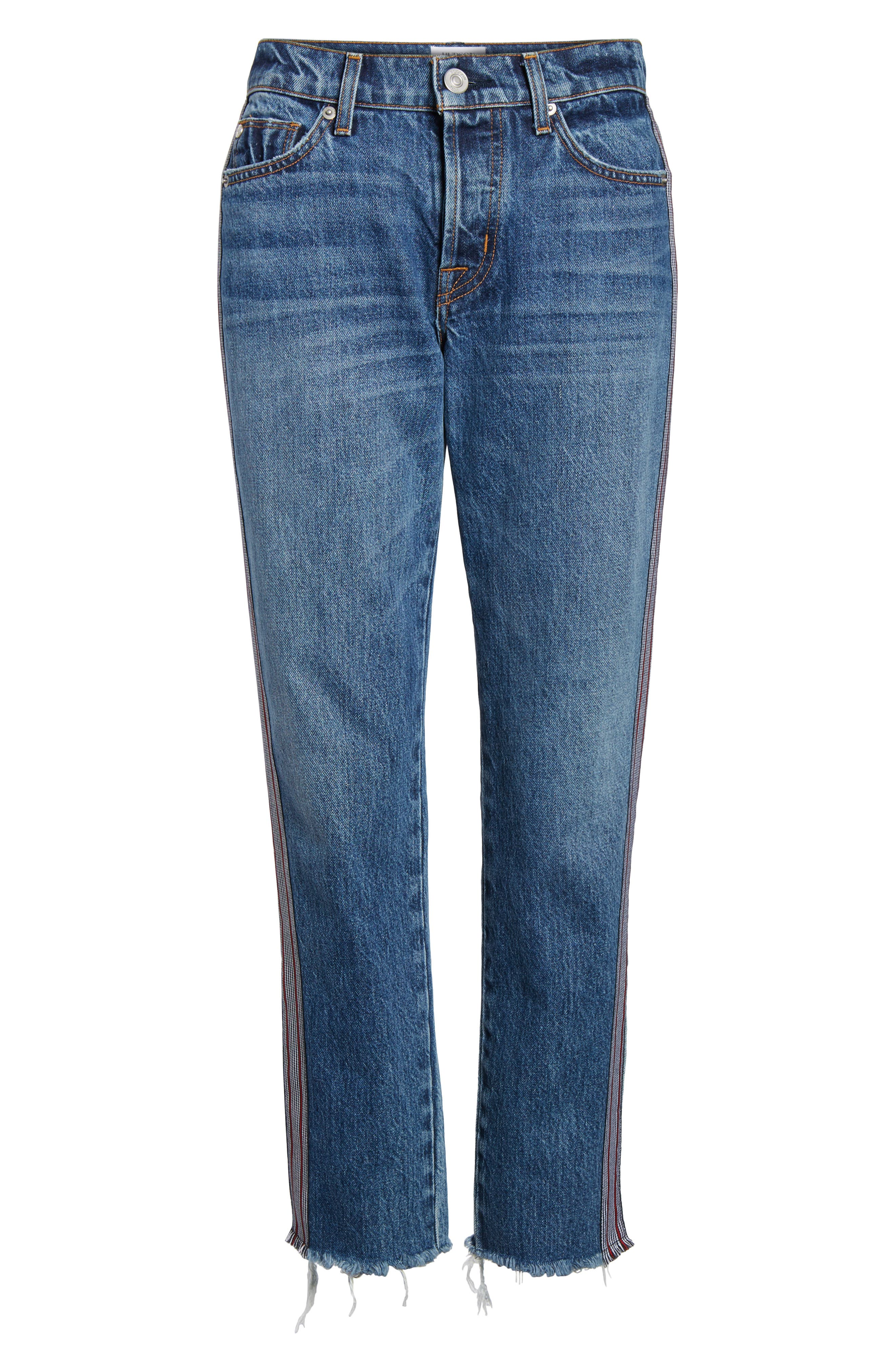 Riley Crop Straight Leg Jeans,                             Alternate thumbnail 7, color,                             424
