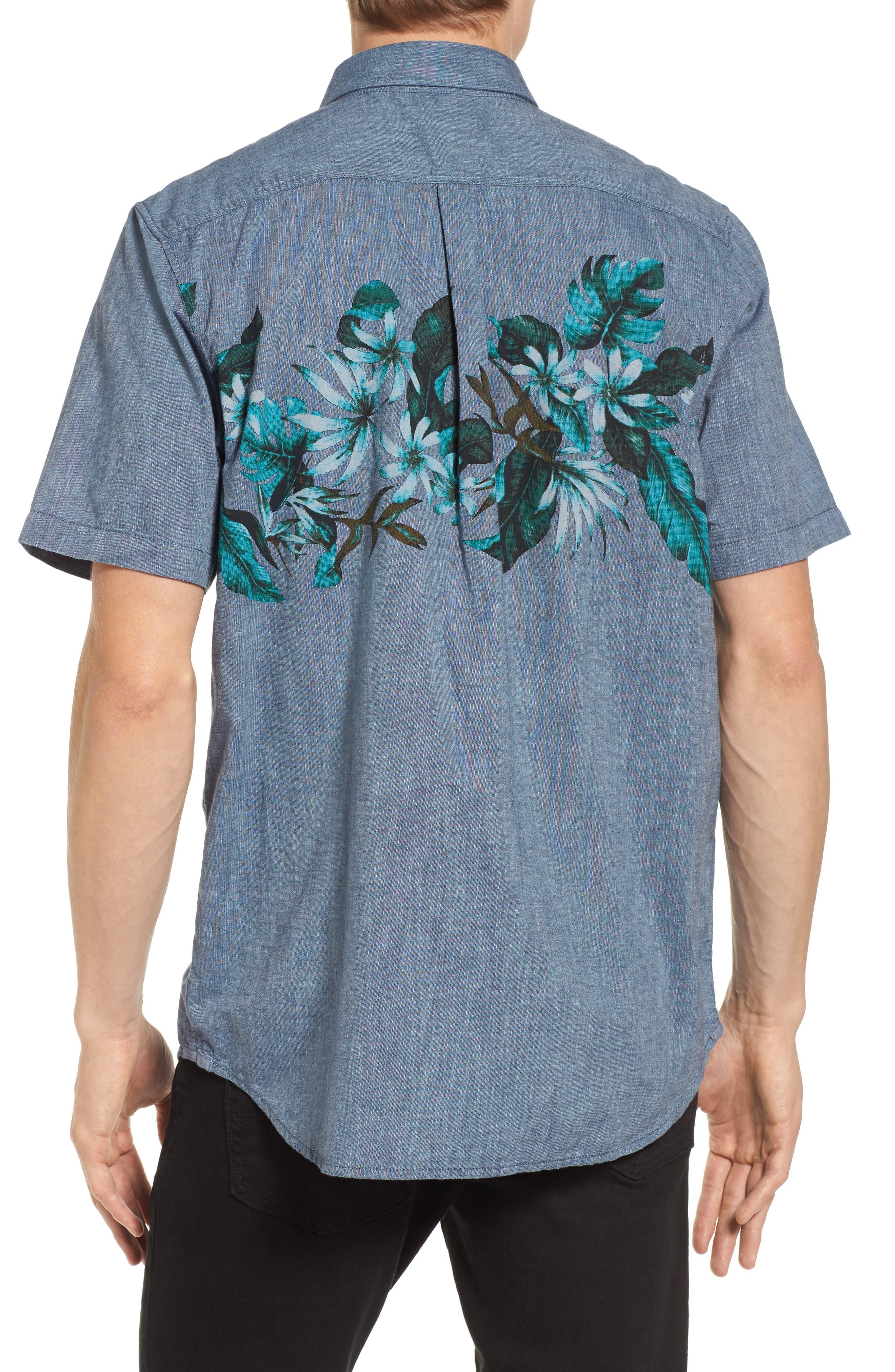 Floral Woven Shirt,                             Alternate thumbnail 2, color,