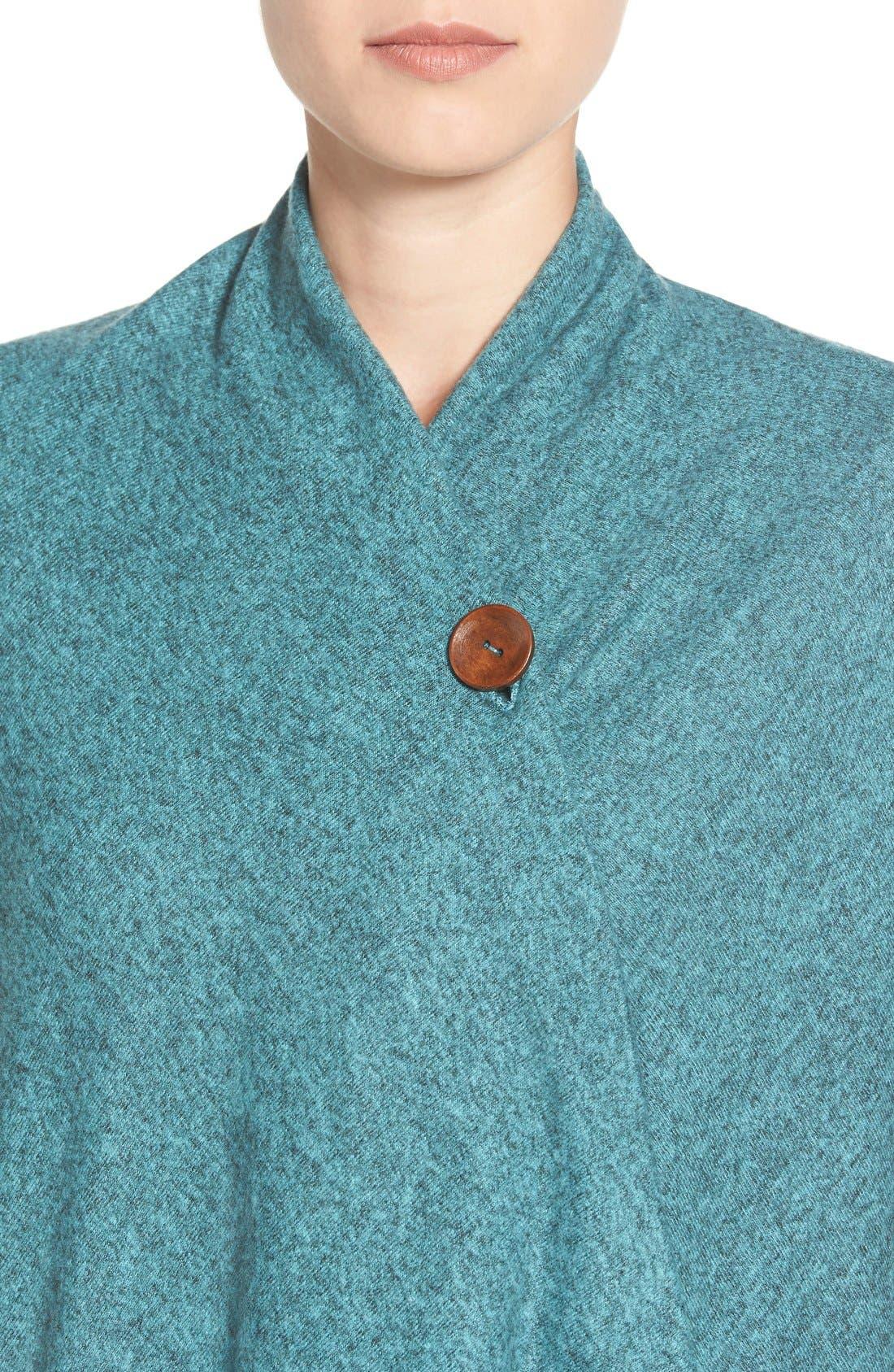 One-Button Fuzzy Wrap Cardigan,                             Alternate thumbnail 2, color,                             456