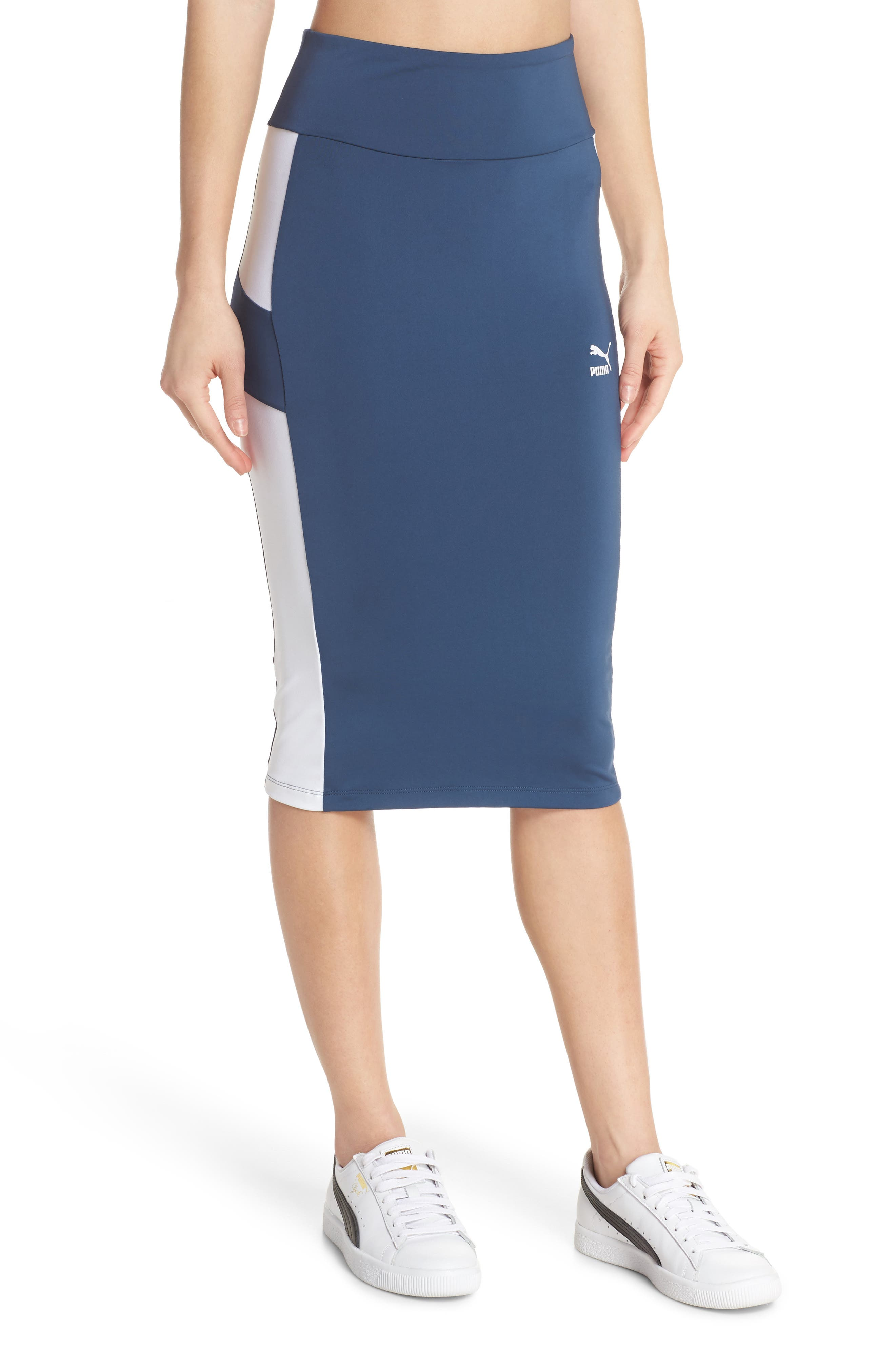 Archive Logo Pencil Skirt,                             Main thumbnail 1, color,                             403