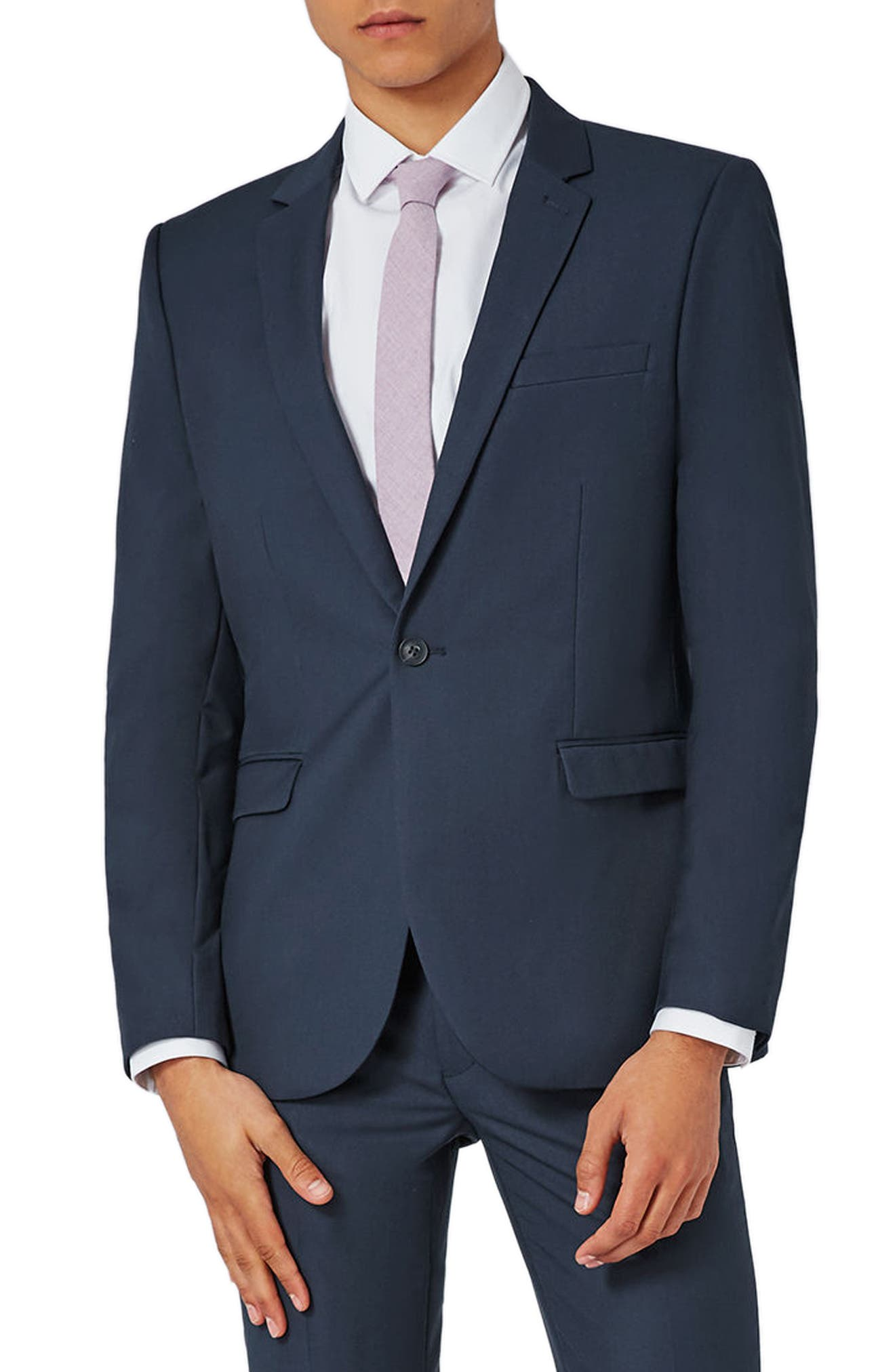 Skinny Fit Suit Jacket,                             Main thumbnail 1, color,                             420