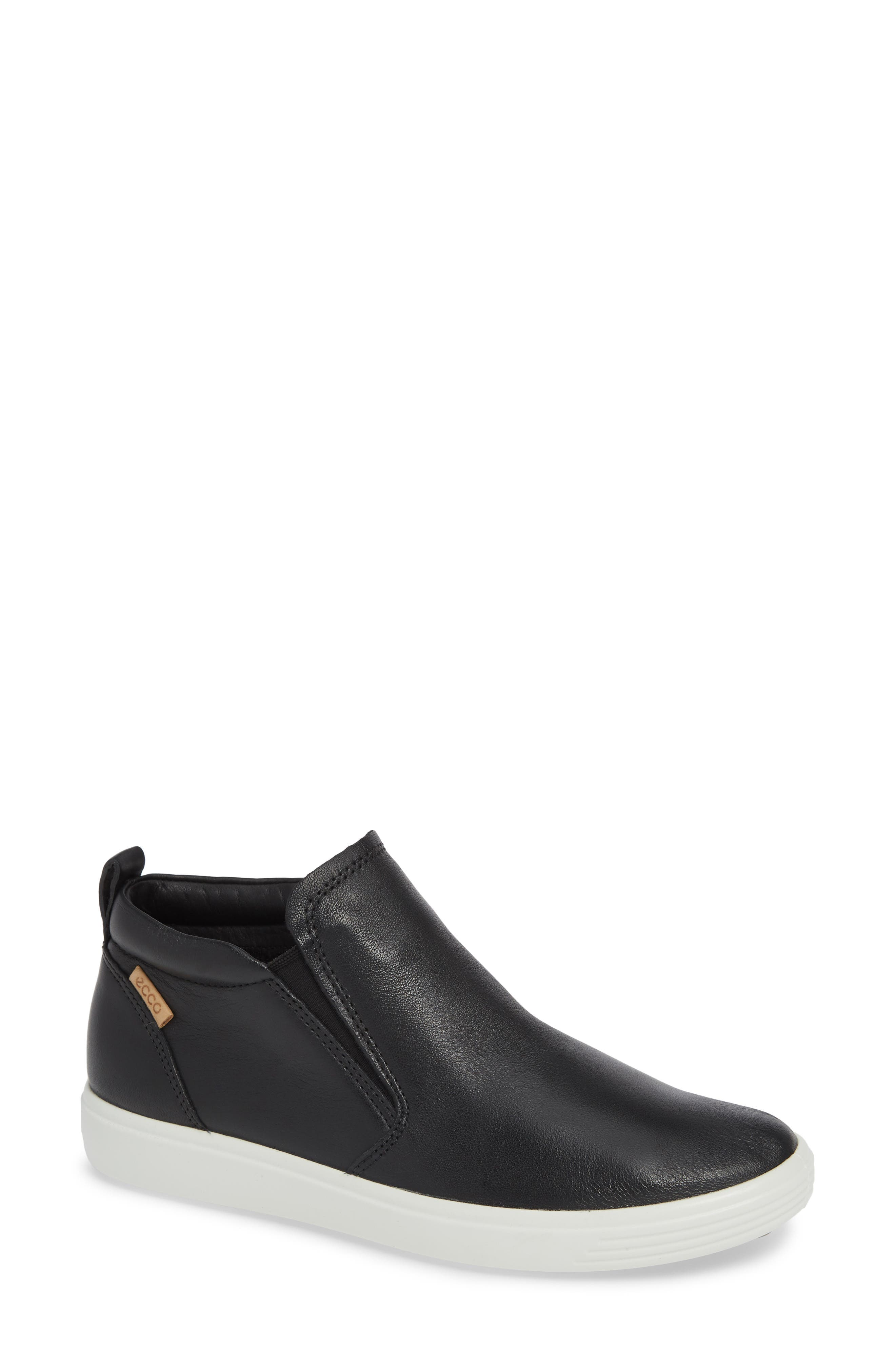 Soft 7 Slip-On High Top Sneaker, Main, color, BLACK LEATHER