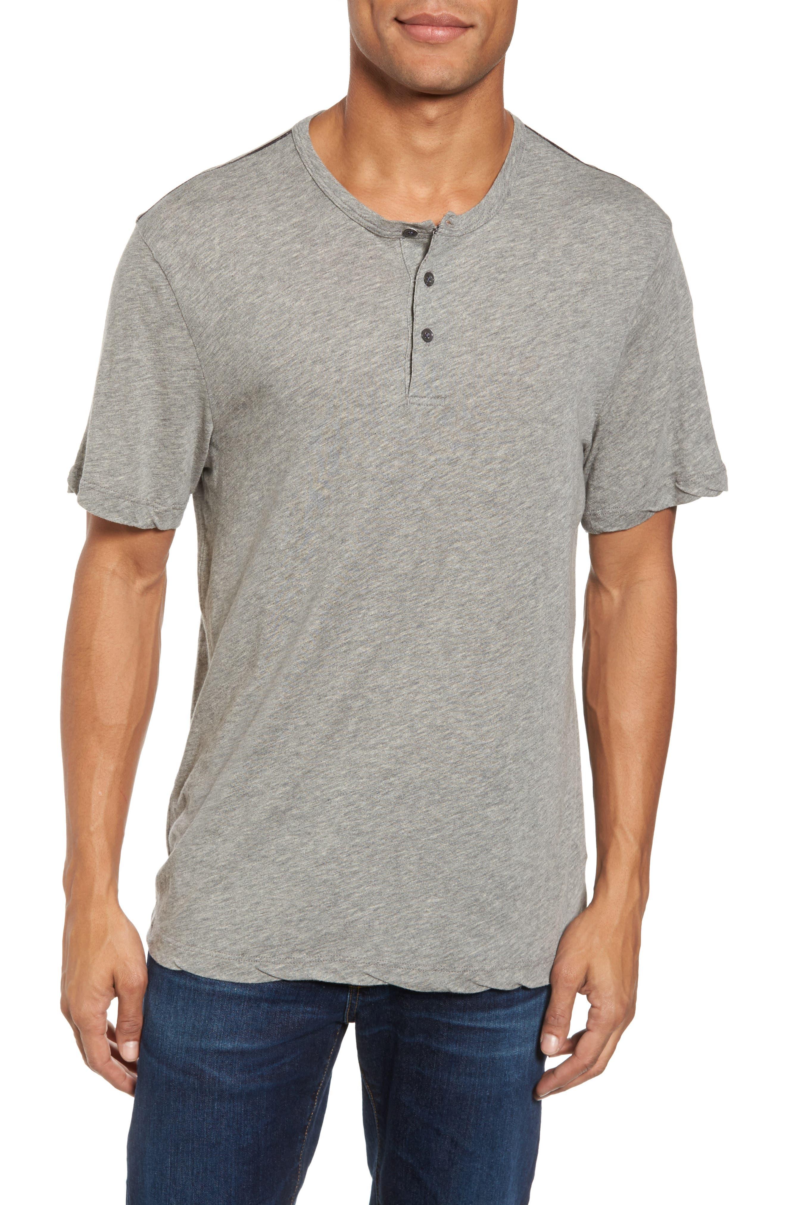 Contrast Stitch Henley T-Shirt,                             Main thumbnail 1, color,