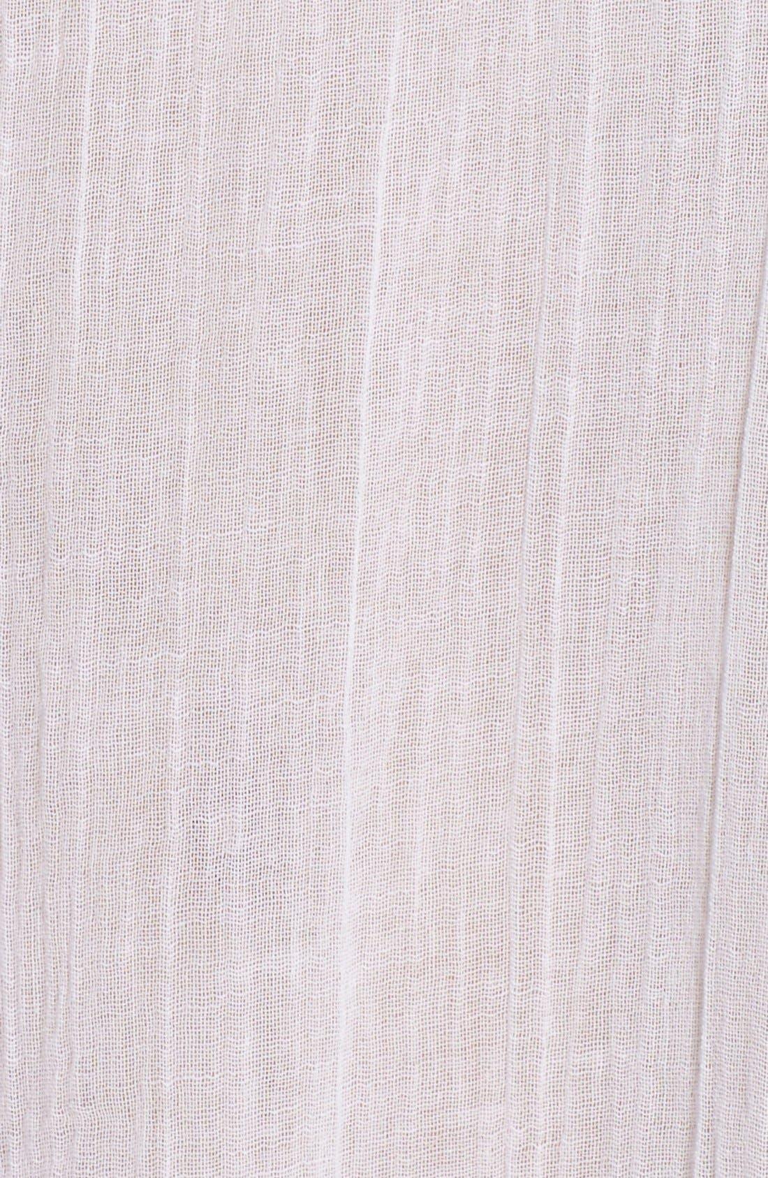 'Amnesia' Cotton Gauze Cover-Up Caftan,                             Alternate thumbnail 5, color,                             WHITE