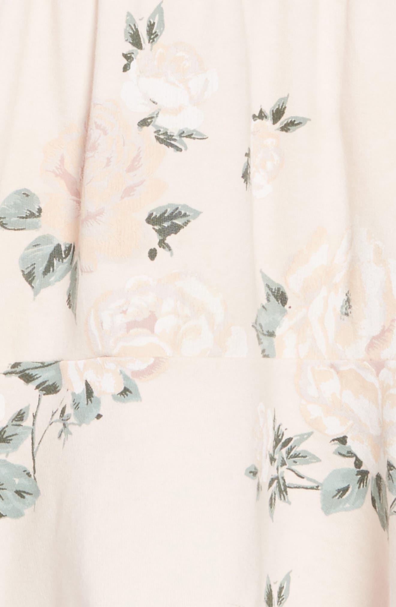 Kirsten Floral Print Dress,                             Alternate thumbnail 3, color,                             PINK