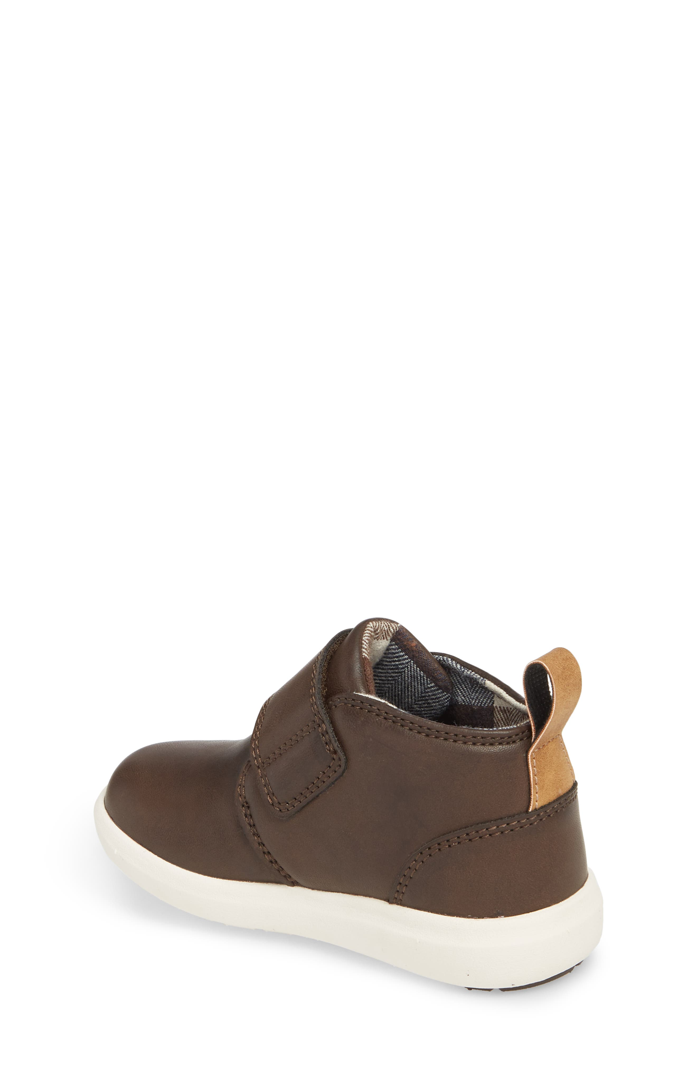 Oliver Low Bootie Sneaker,                             Alternate thumbnail 2, color,                             CHOCOLATE FAUX LEATHER