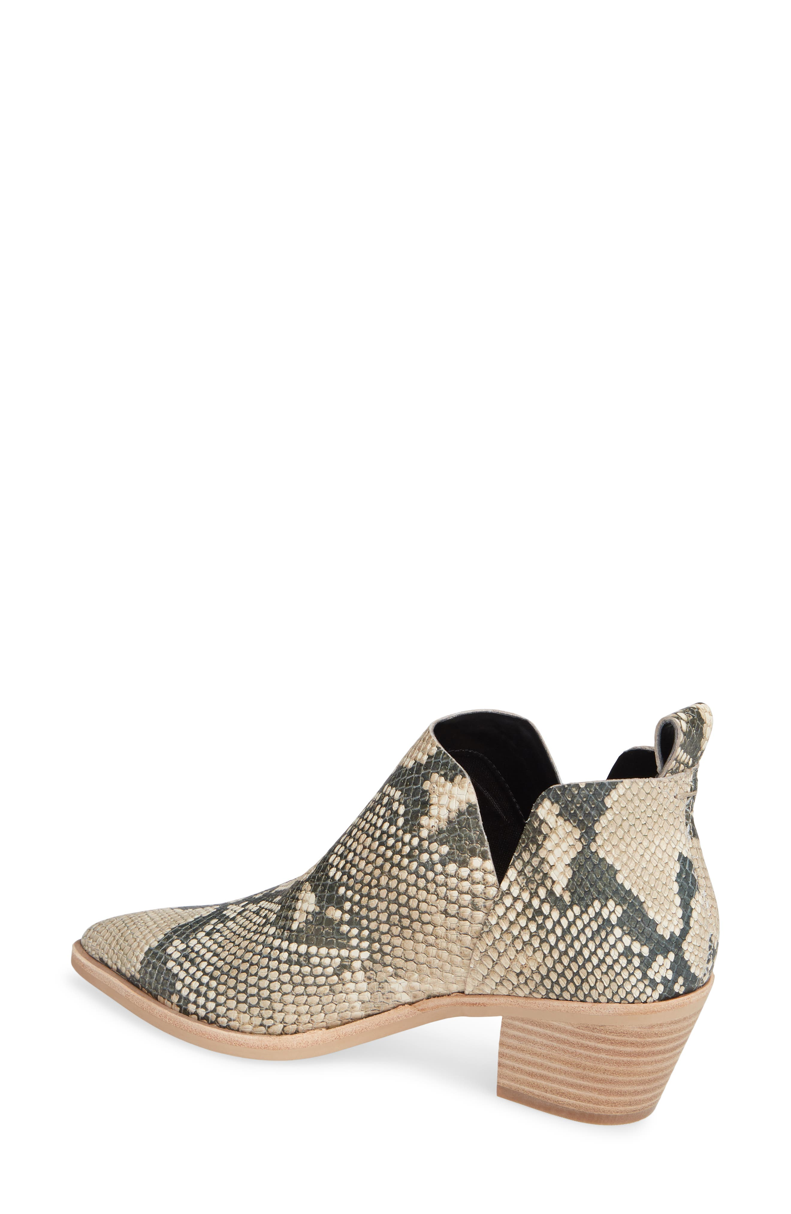 DOLCE VITA,                             Sonni Pointy Toe Bootie,                             Alternate thumbnail 2, color,                             SNAKE PRINT EMBOSSED LEATHER