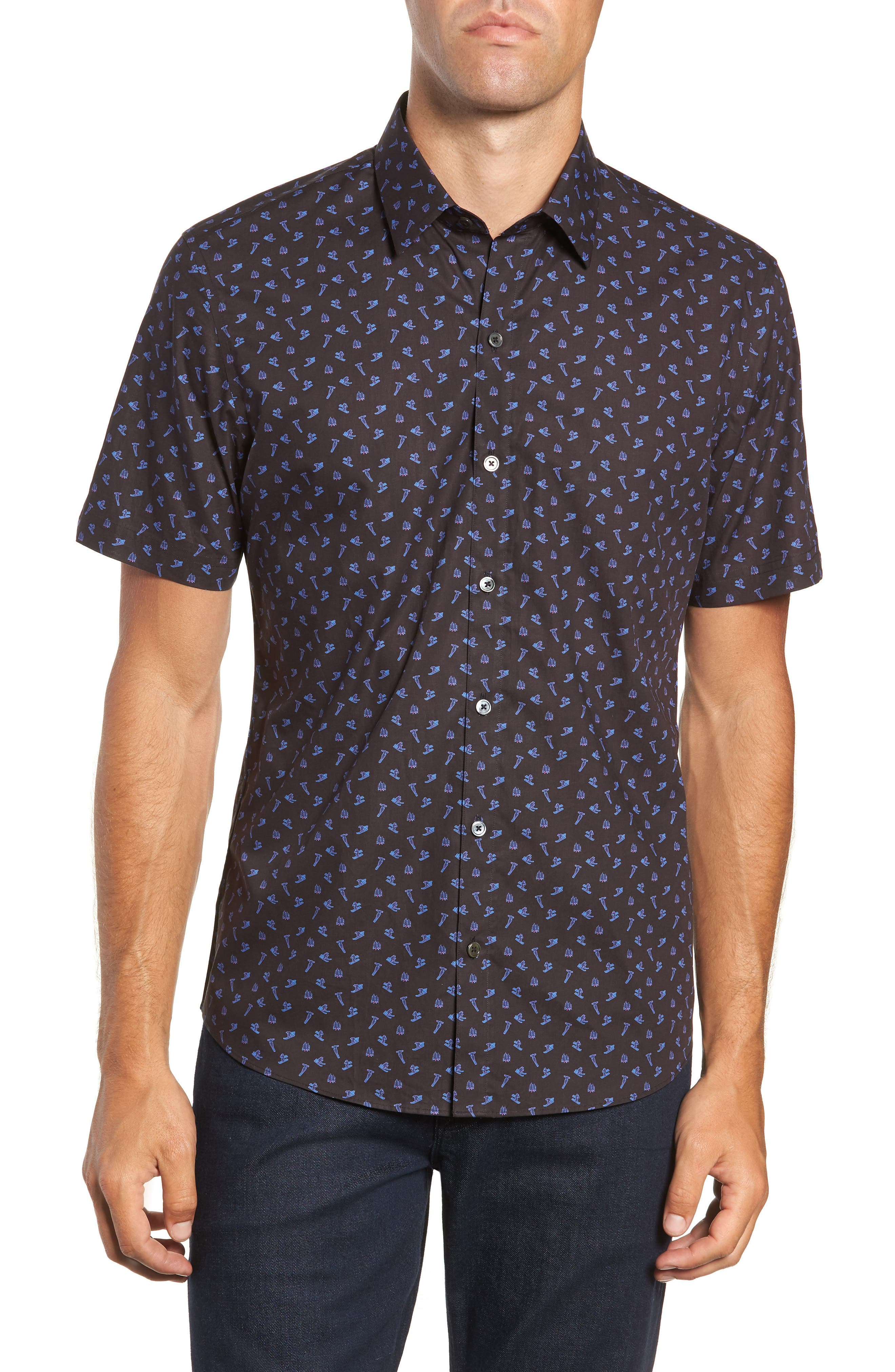 ZACHARY PRELL Principato Regular Fit Sport Shirt, Main, color, 410