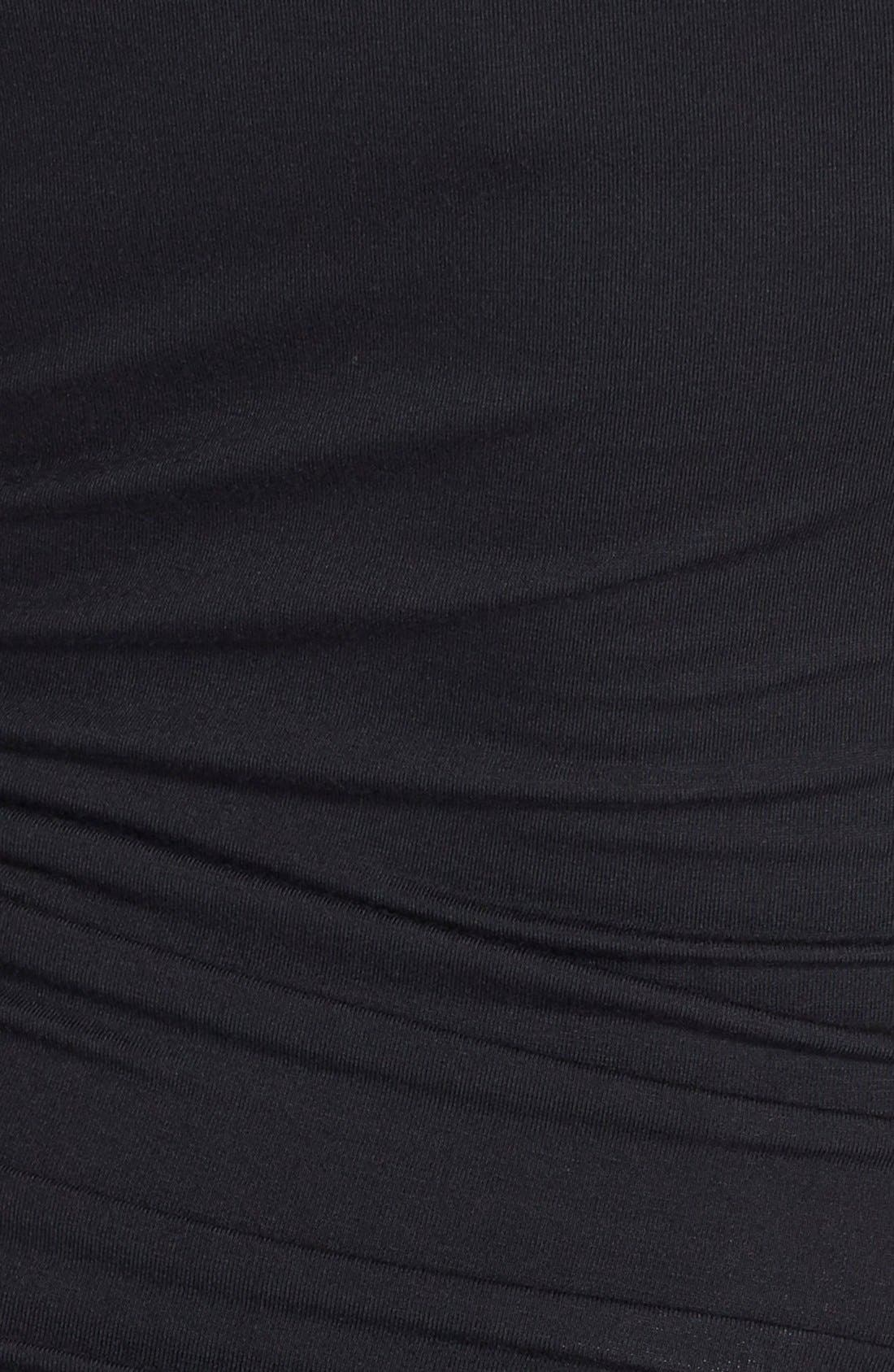 'Stella' Striped Jersey Maternity Dress,                             Alternate thumbnail 6, color,                             BLACK