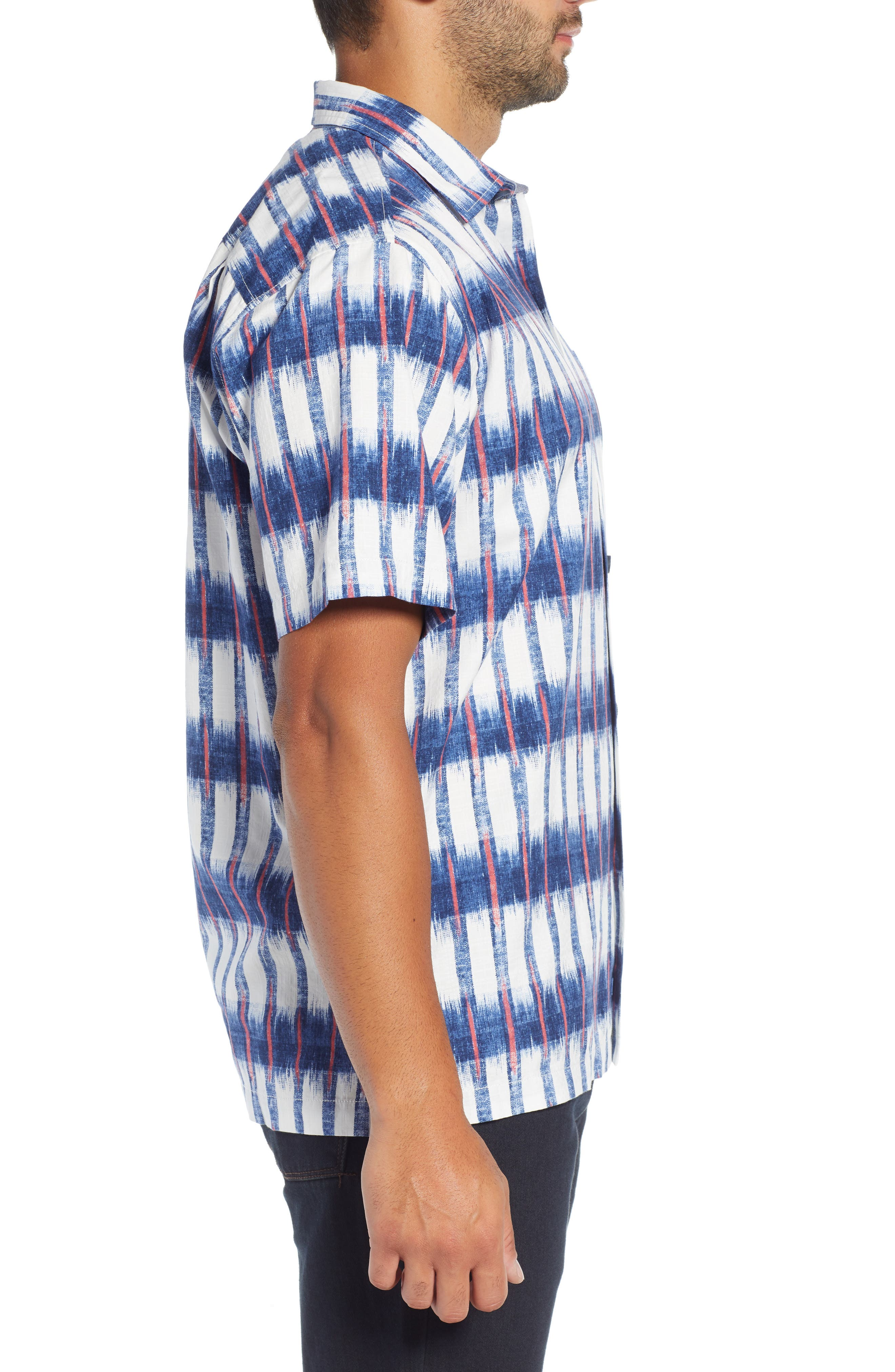 Fresco Falls Regular Fit Sport Shirt,                             Alternate thumbnail 4, color,                             DOCKSIDE BLUE