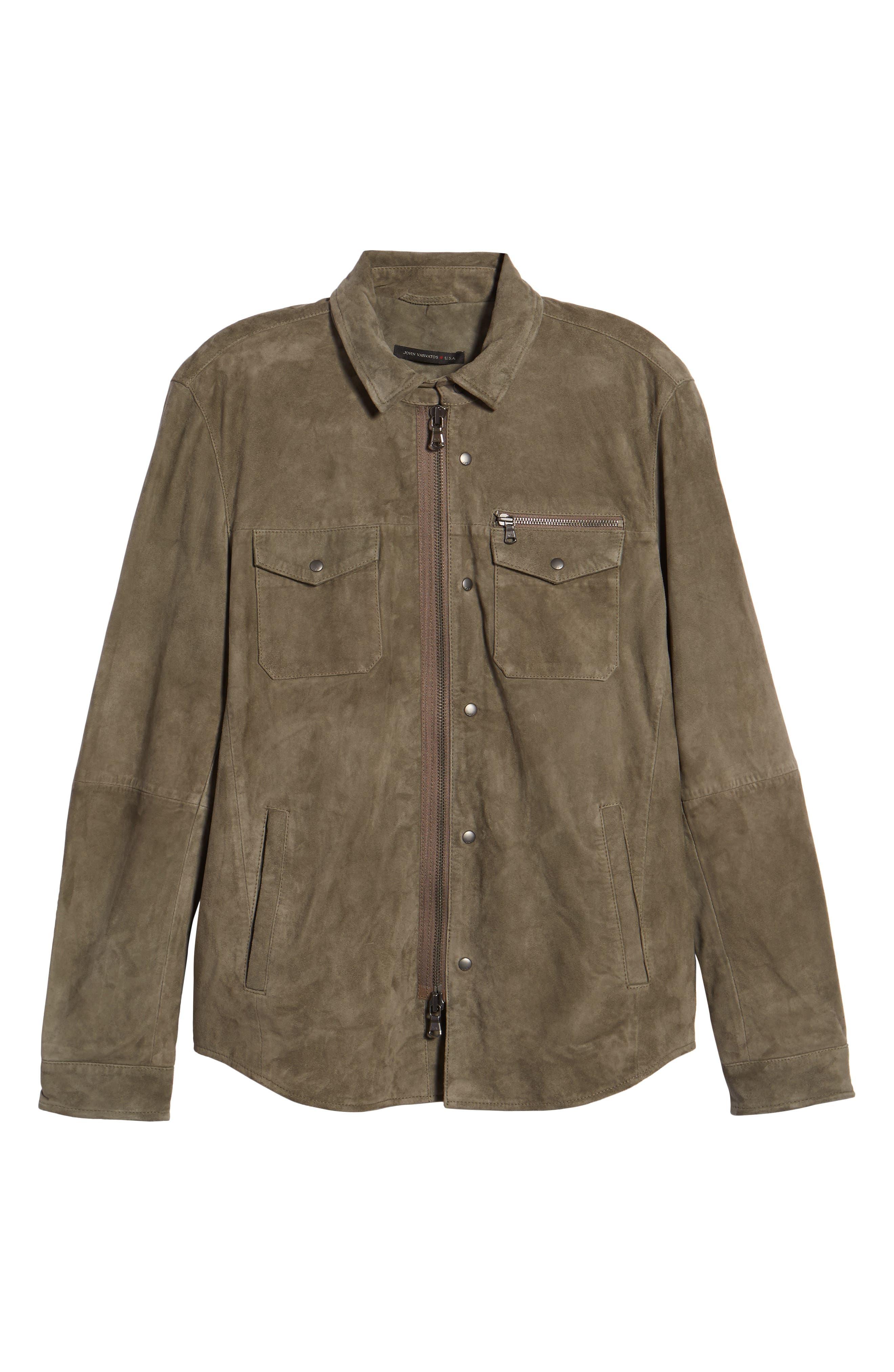 Suede Shirt Jacket,                             Alternate thumbnail 5, color,                             310