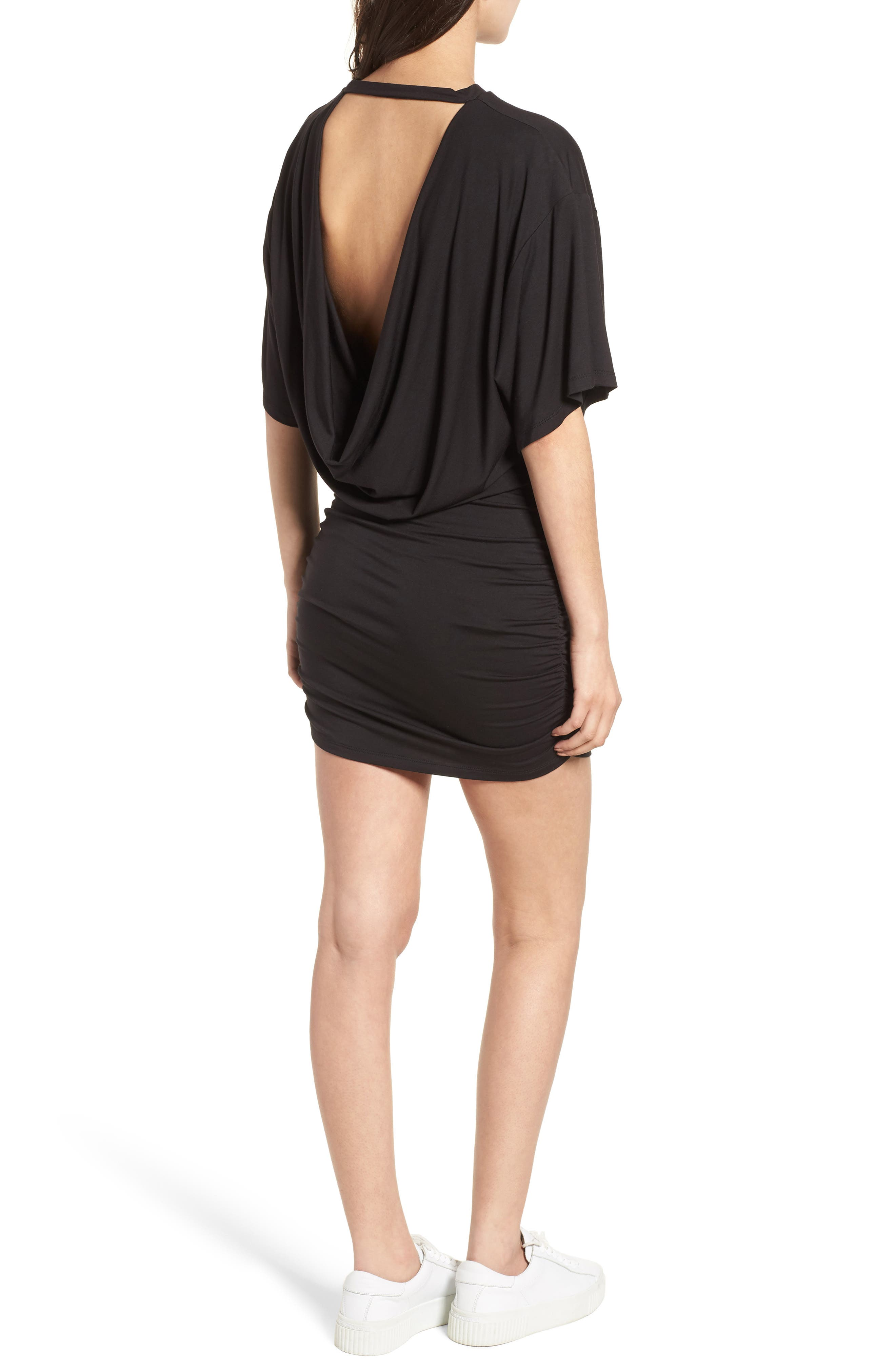 KENDALL + KYLIE,                             Open Back T-Shirt Dress,                             Alternate thumbnail 2, color,                             001