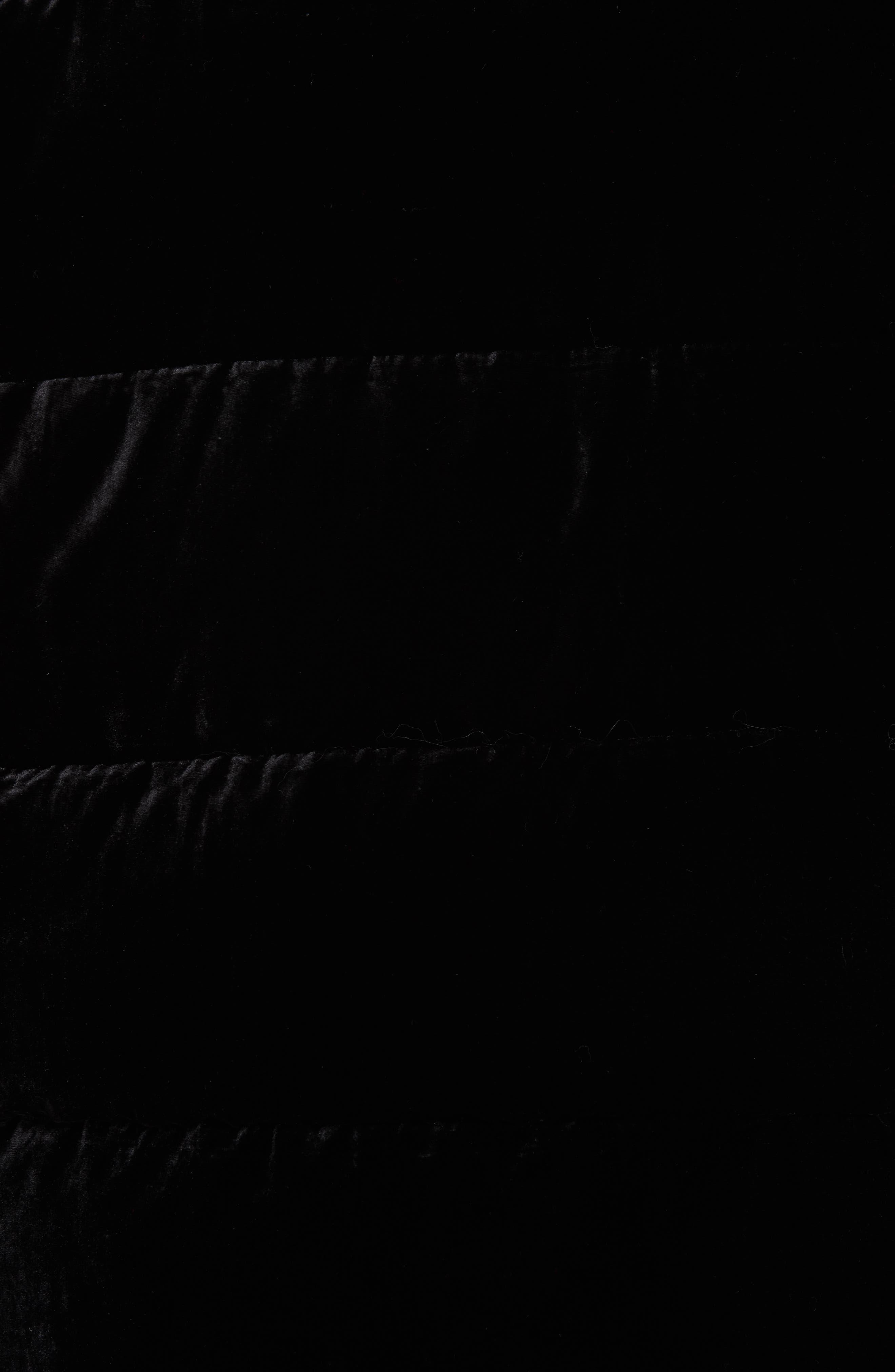 POLO RALPH LAUREN,                             Velvet Down Jacket,                             Alternate thumbnail 6, color,                             001