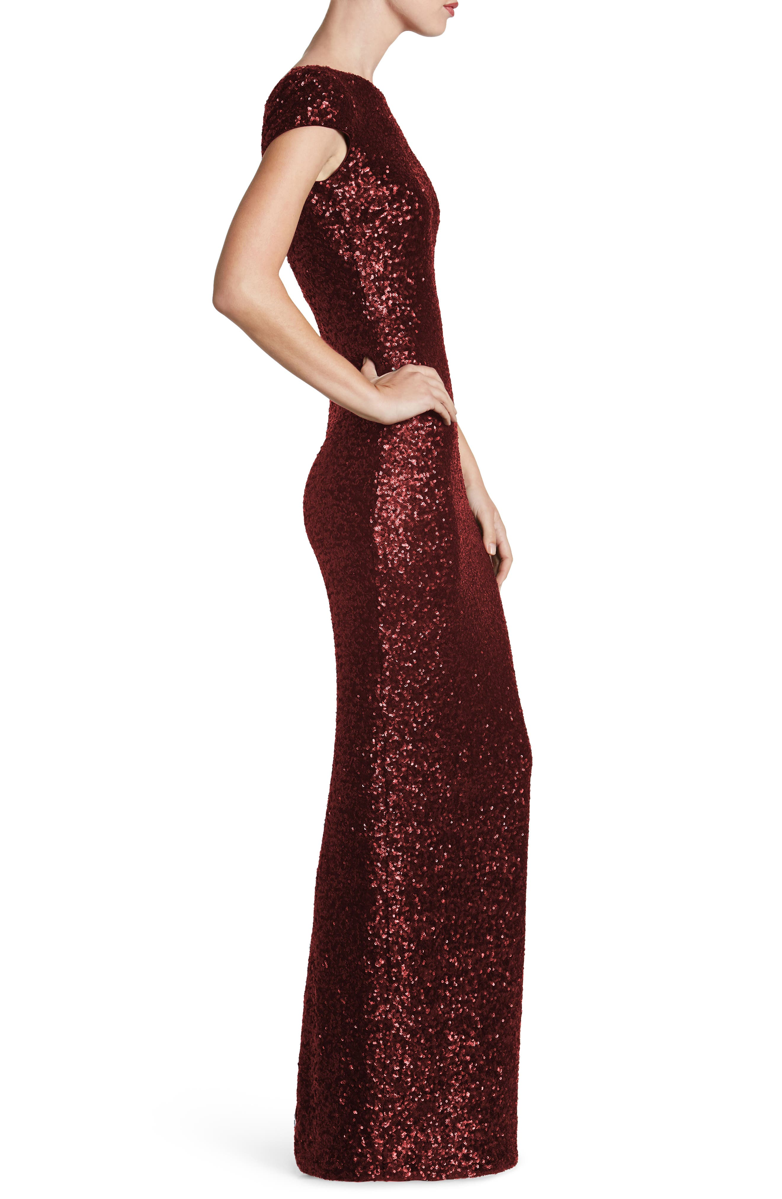 Teresa Body-Con Gown,                             Alternate thumbnail 18, color,