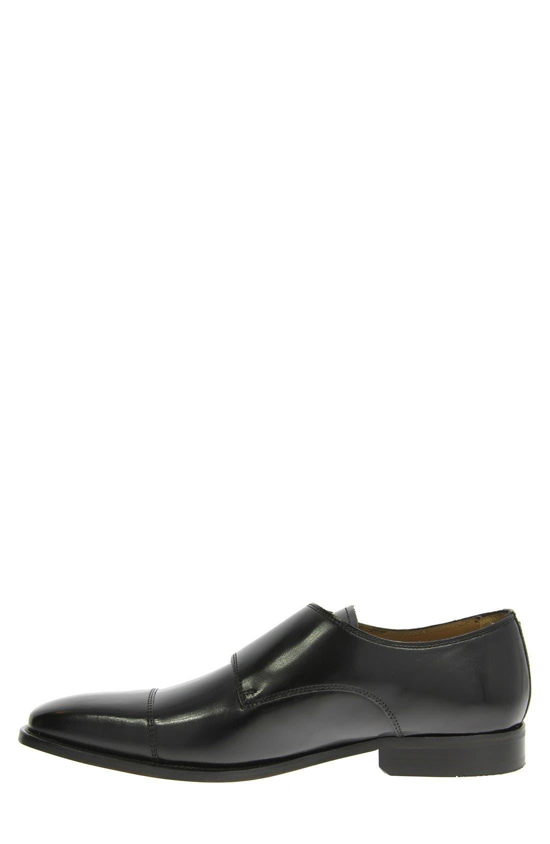 'Sabato' Double Monk Strap Shoe,                             Alternate thumbnail 2, color,                             001