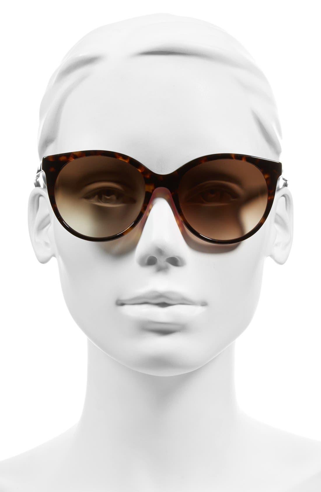 'amayas' 53mm cat eye sunglasses,                             Alternate thumbnail 2, color,                             HAVANA/ PINK
