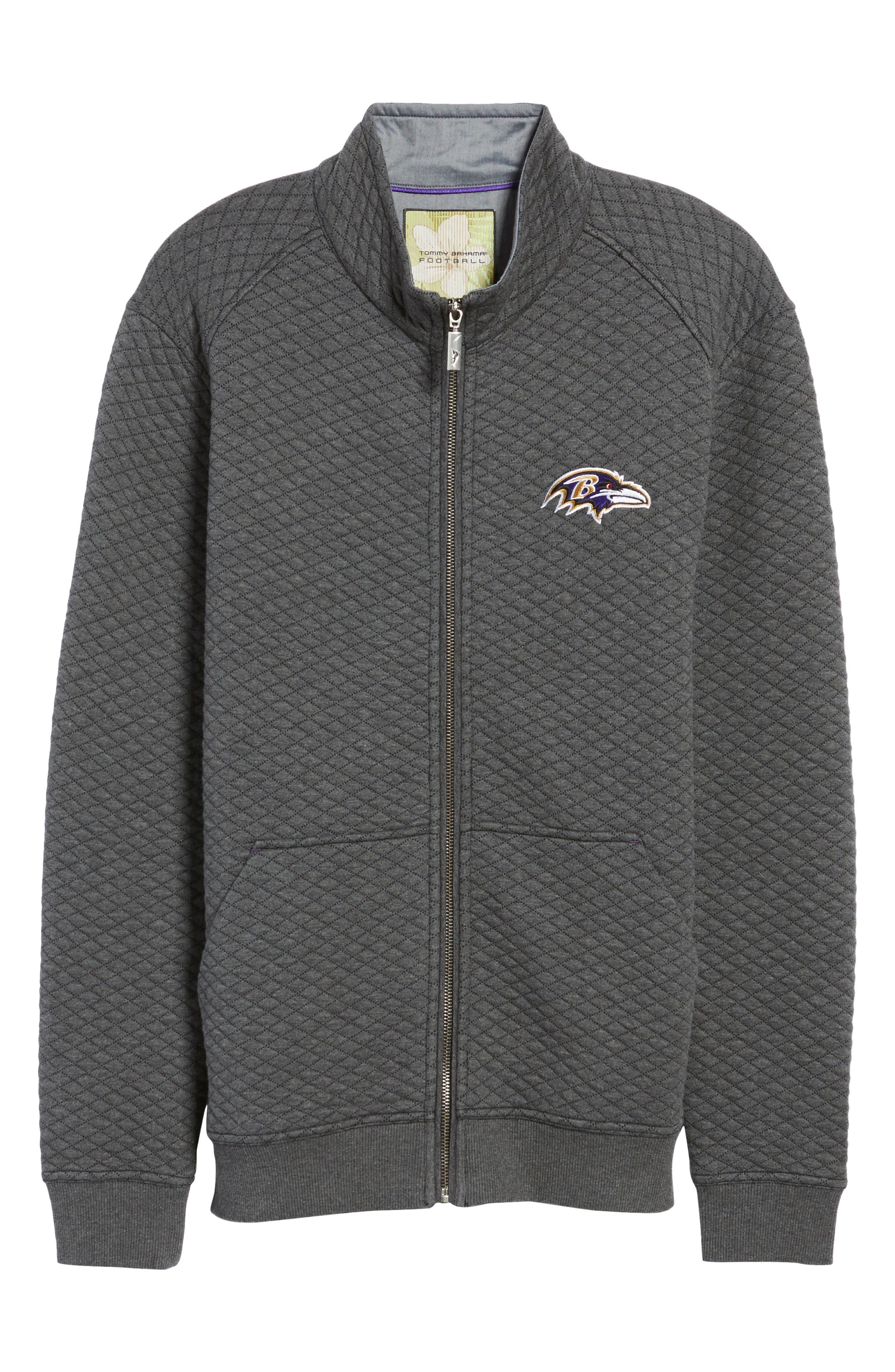 NFL Quiltessential Full Zip Sweatshirt,                             Alternate thumbnail 180, color,