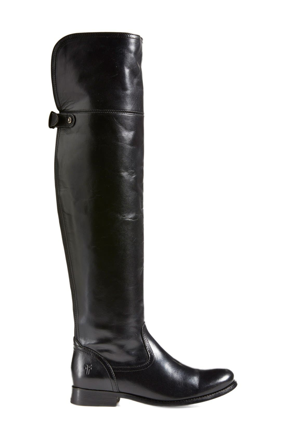 'Melissa' Over the Knee Boot,                             Alternate thumbnail 4, color,                             001