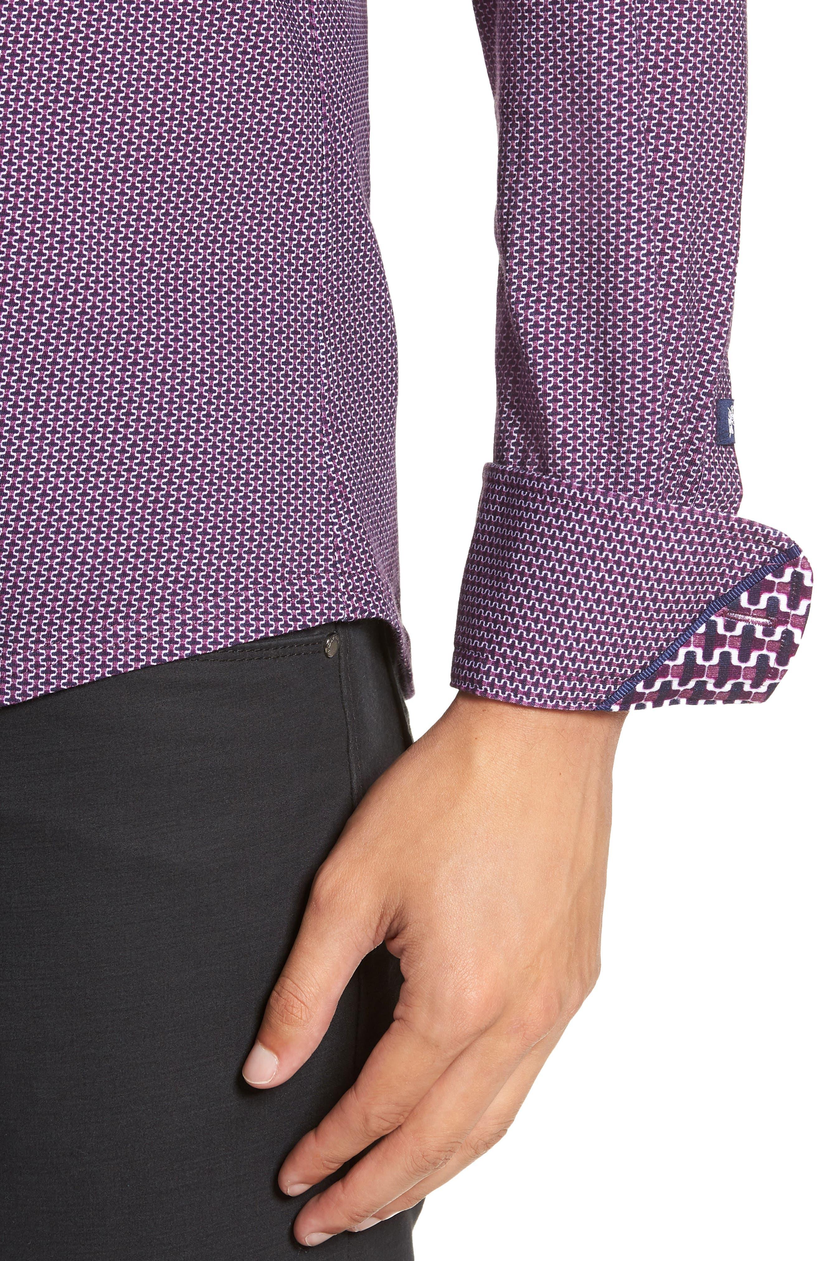 Trim Fit Knit Sport Shirt,                             Alternate thumbnail 2, color,                             PURPLE