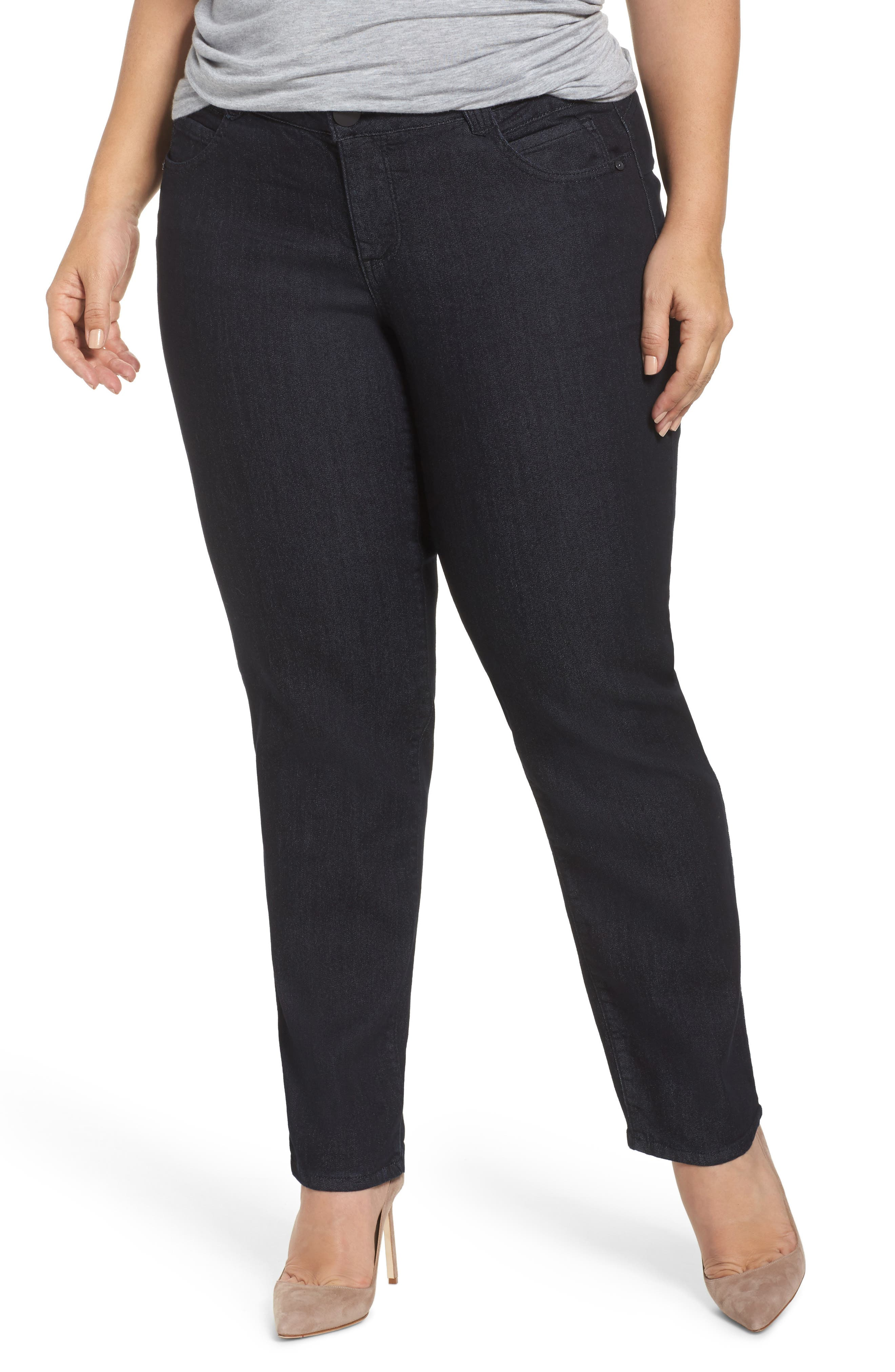 Ab-Solution Stretch Straight Leg Jeans,                             Main thumbnail 1, color,                             402