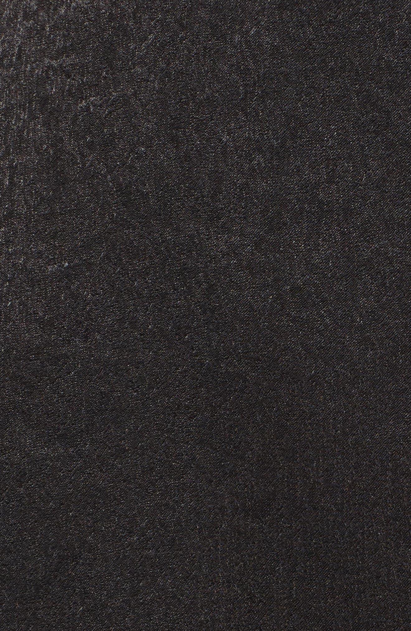 Satin Faux Wrap Dress,                             Alternate thumbnail 5, color,                             001
