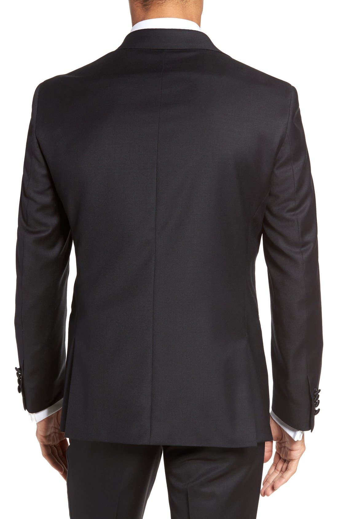 Aston Trim Fit Wool Dinner Jacket,                         Main,                         color, 001