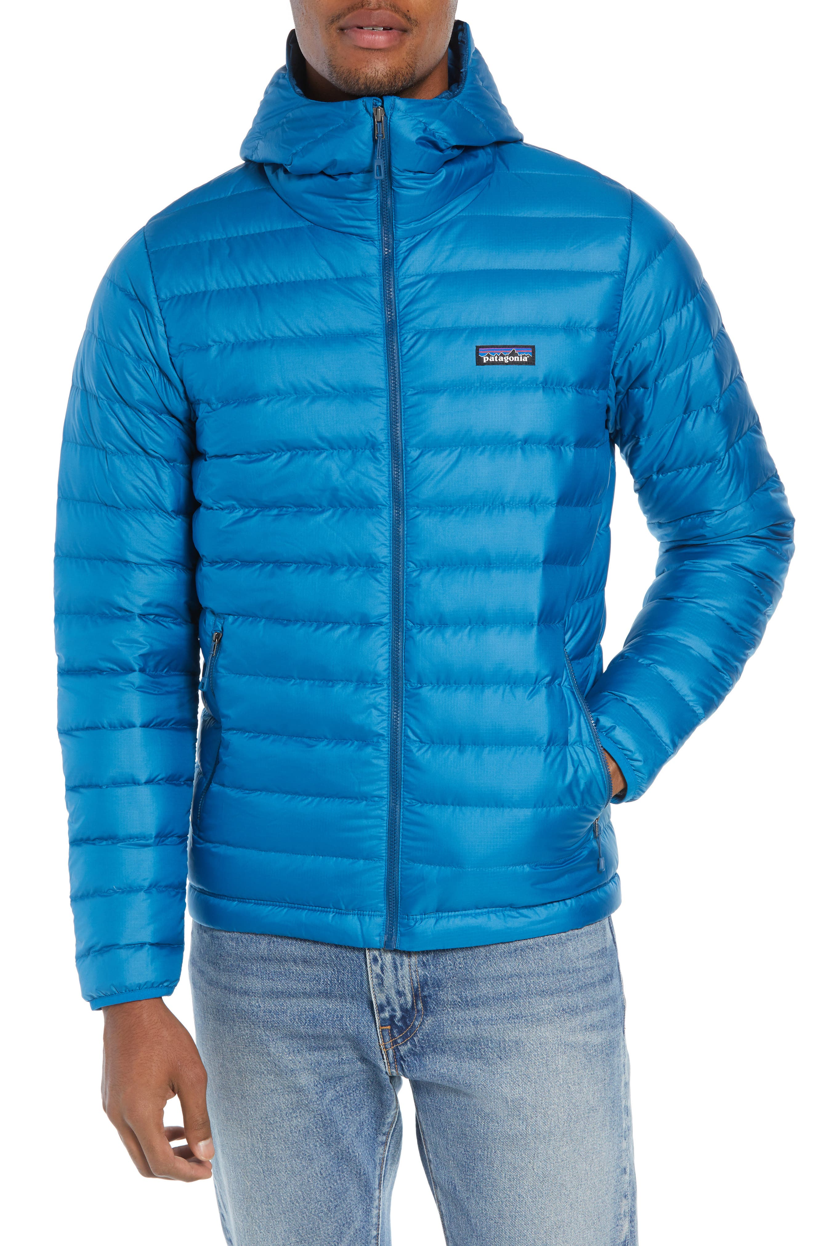 Packable Windproof & Water Resistant Goose Down Sweater Hooded Jacket,                             Alternate thumbnail 25, color,